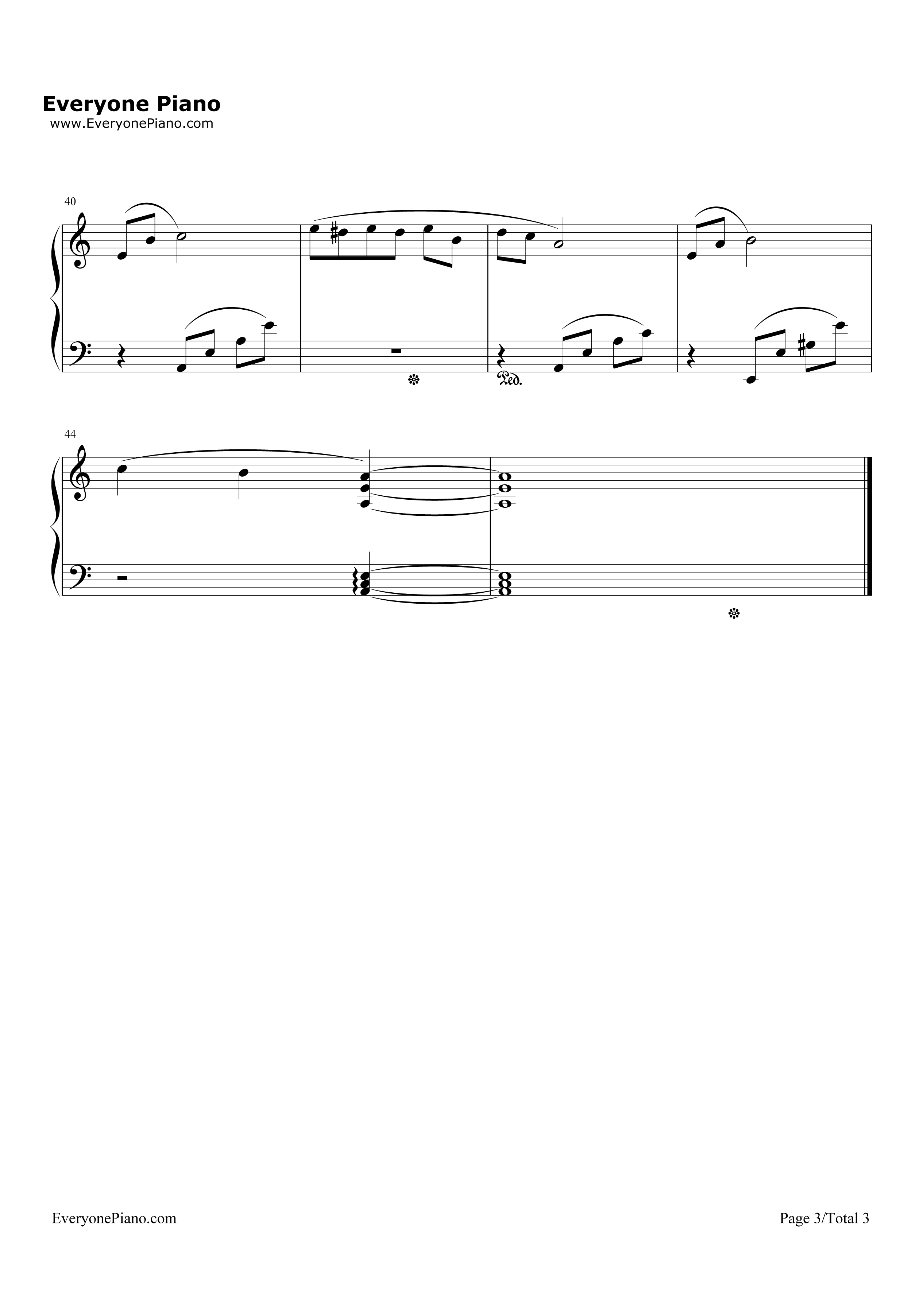 献给爱丽丝-for elise五线谱预览3-钢琴谱