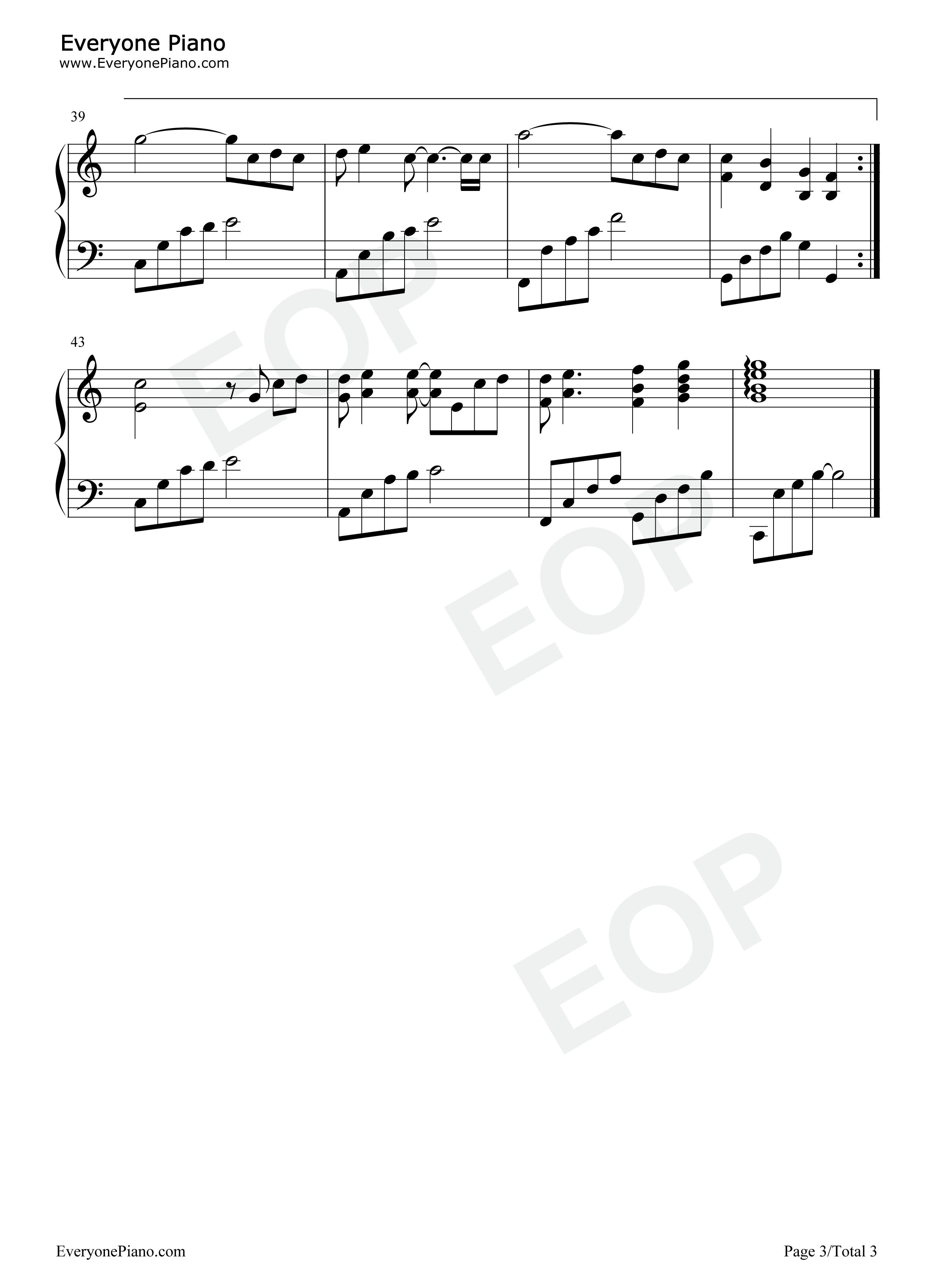好久不见五线谱预览3-钢琴谱(五线谱