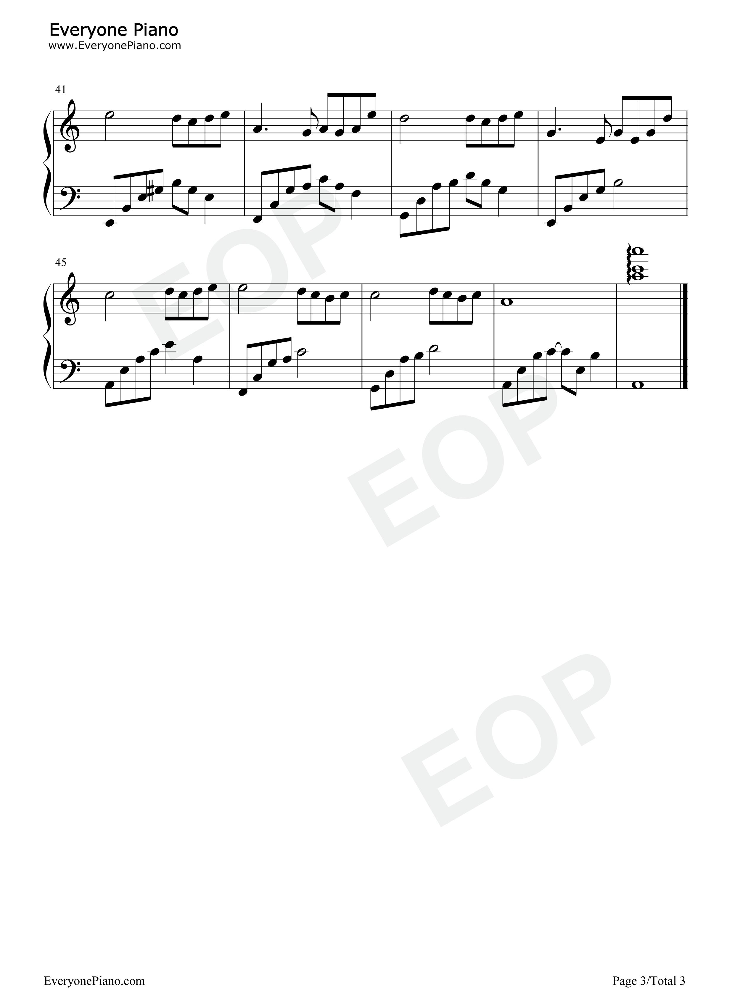 石进夜的钢琴曲1_夜的钢琴曲 4五线谱预览-EOP在线乐谱架