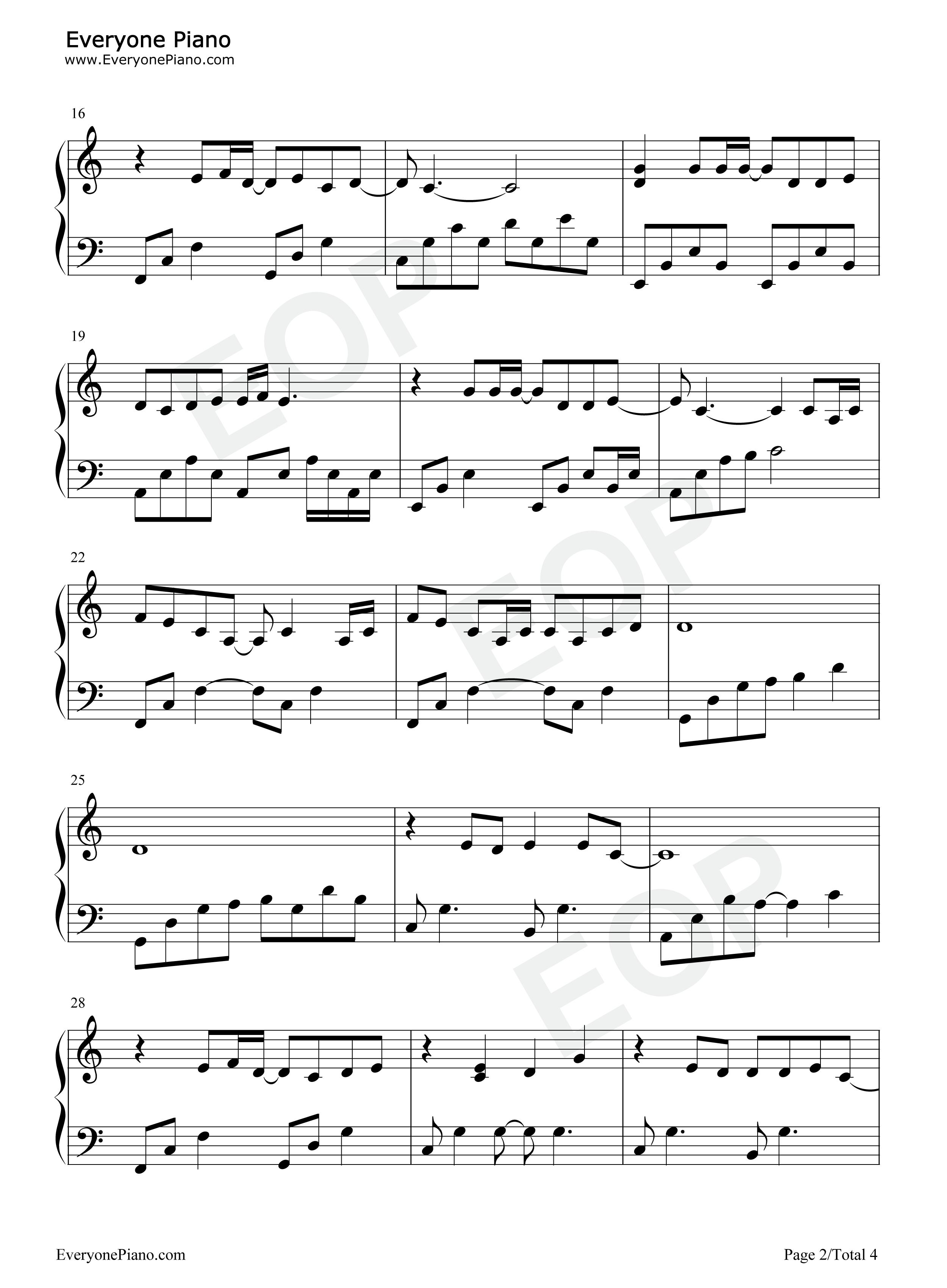 醉清风五线谱预览2-钢琴谱文件(五线谱,双手简谱,数字图片