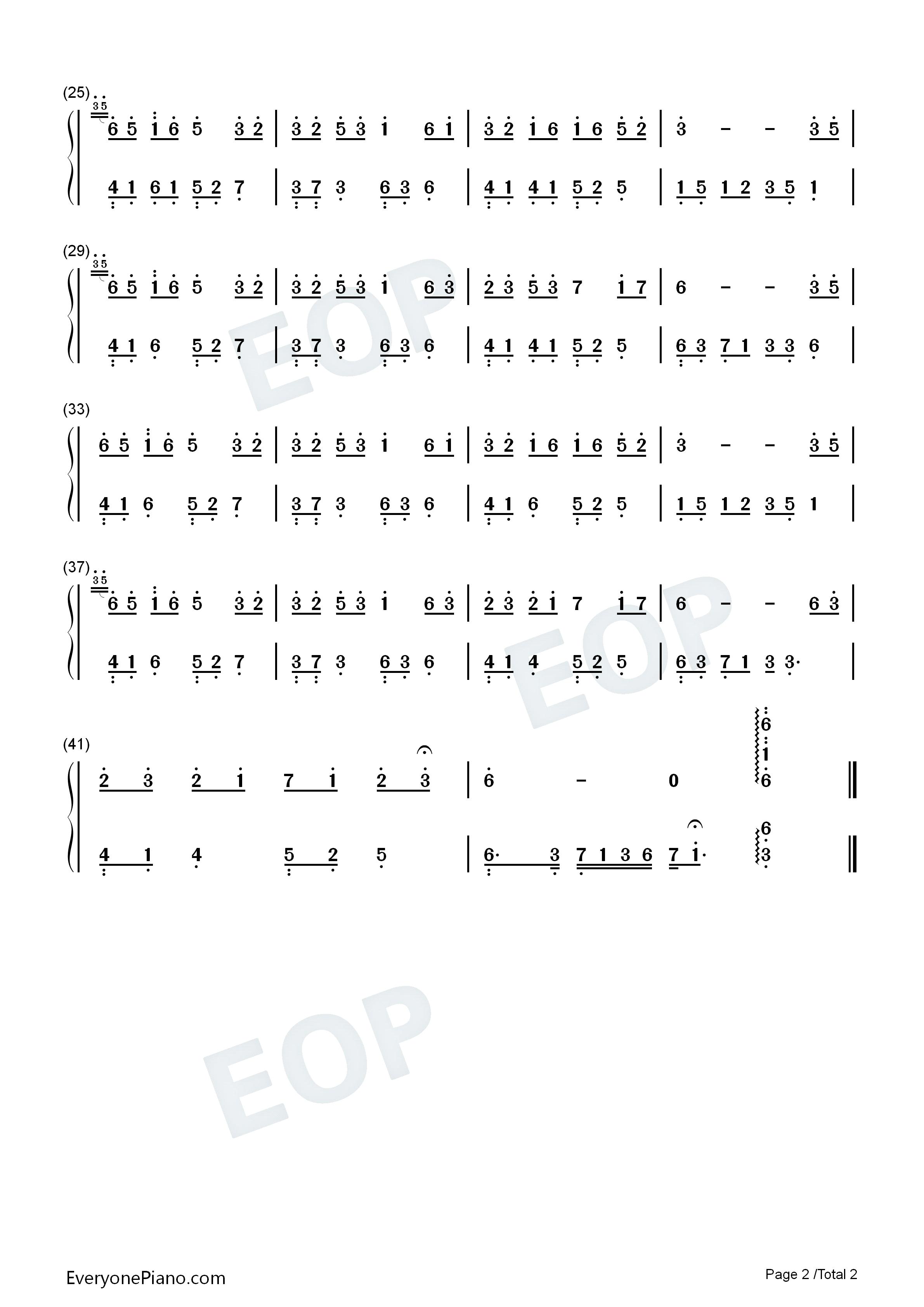 夜的钢琴曲5五线谱c调