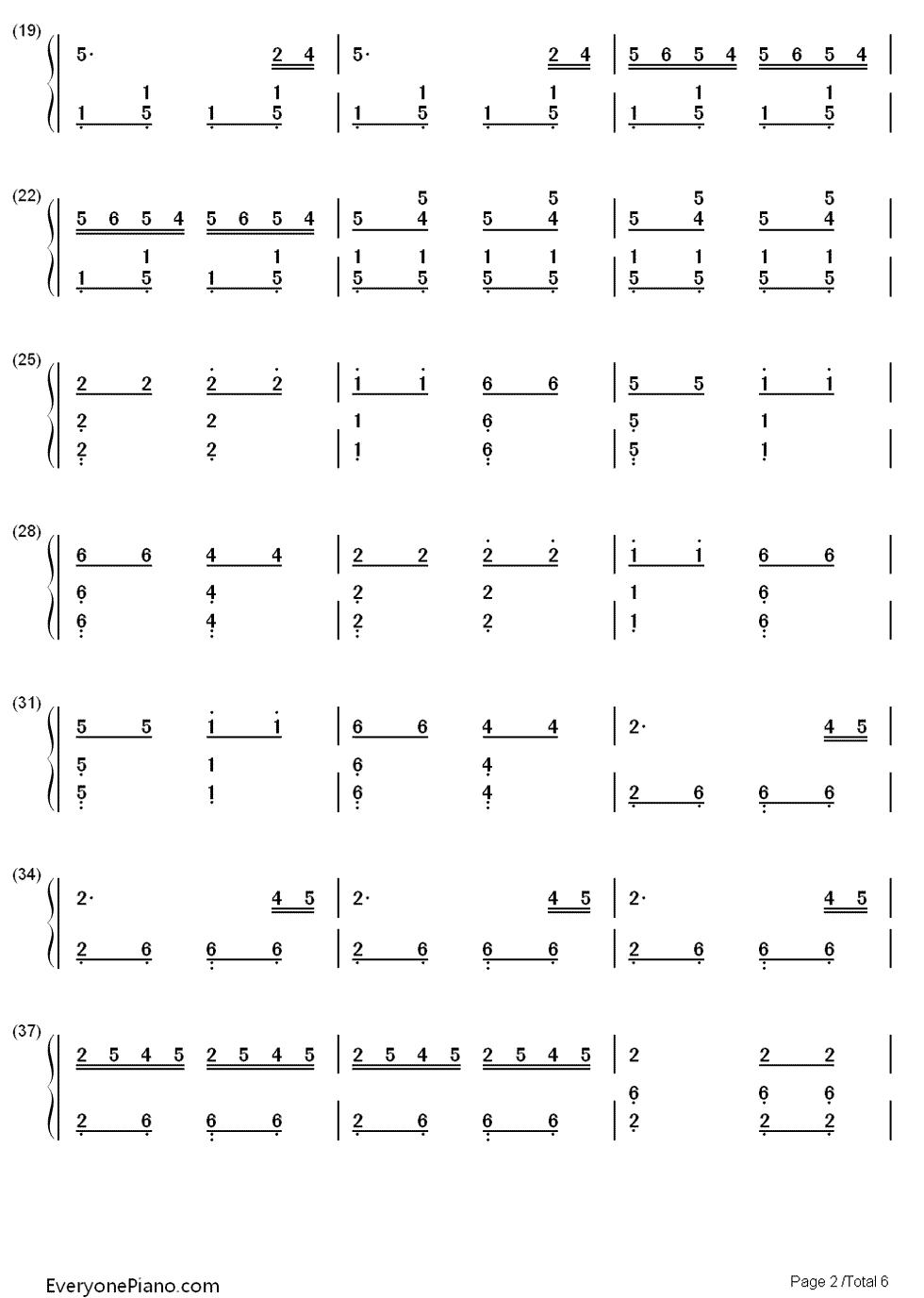 赛马双手简谱预览2 钢琴谱文件 五线谱 双手简谱 数字谱 Midi PDF 免
