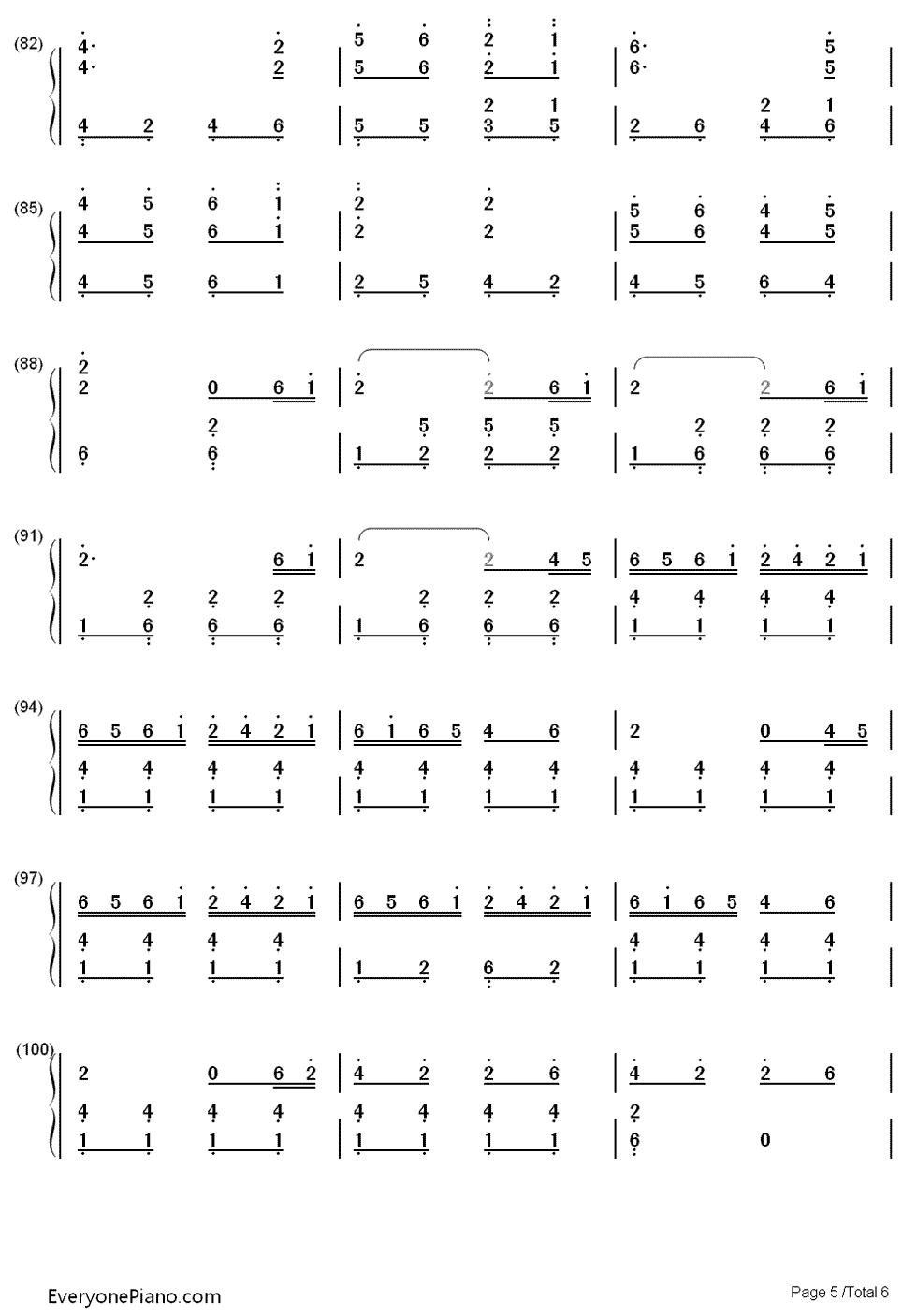 赛马双手简谱预览5-钢琴谱图片