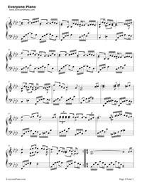 十年-钢琴谱(五线谱,双手简谱)免费下载图片