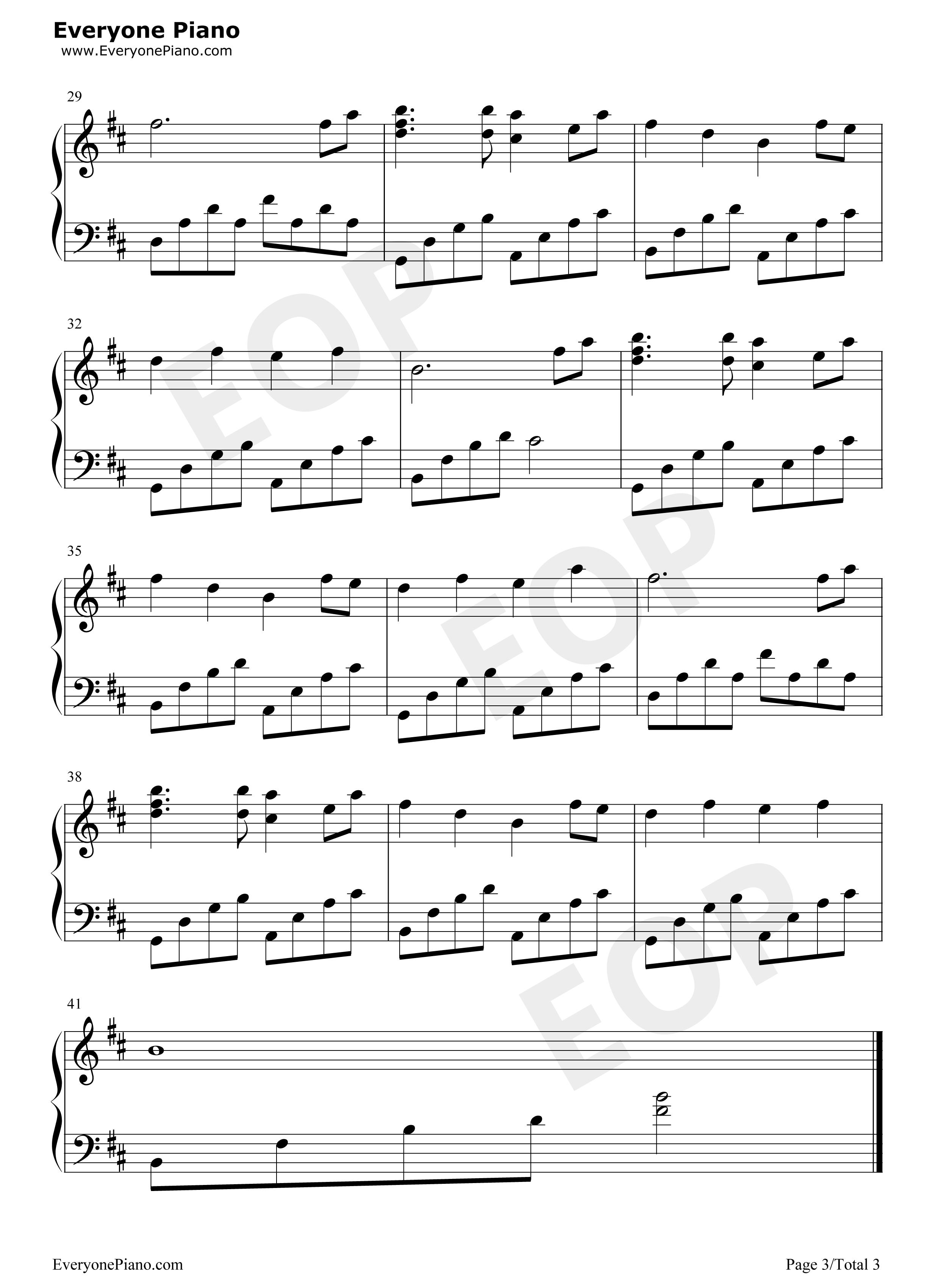 星月神话五线谱预览3-钢琴谱(五线谱,双手简谱)免费