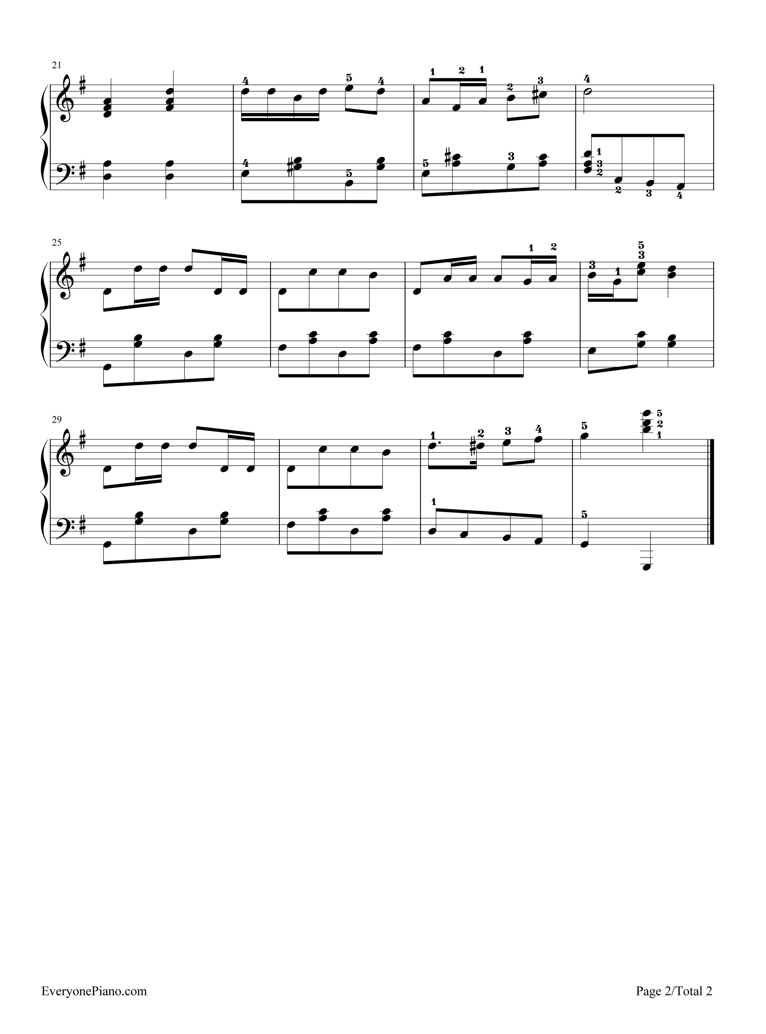 孤独的牧羊人-音乐之声插曲五线谱预览2