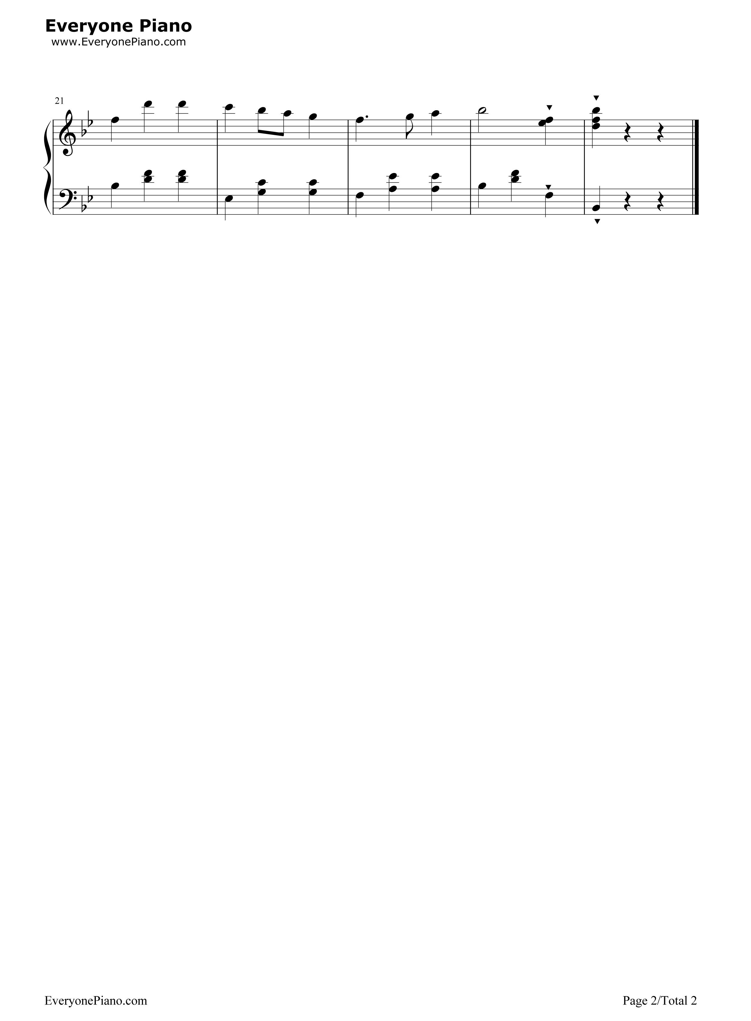 青年友谊圆舞曲五线谱预览2-钢琴谱