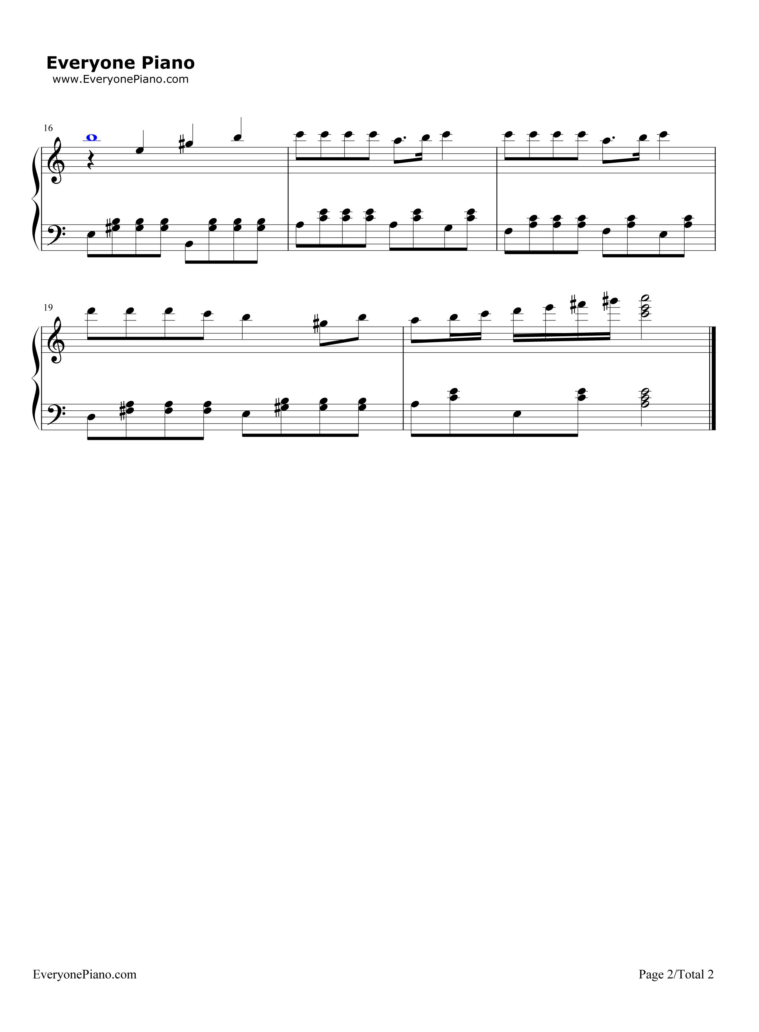 歌声与微笑五线谱预览2