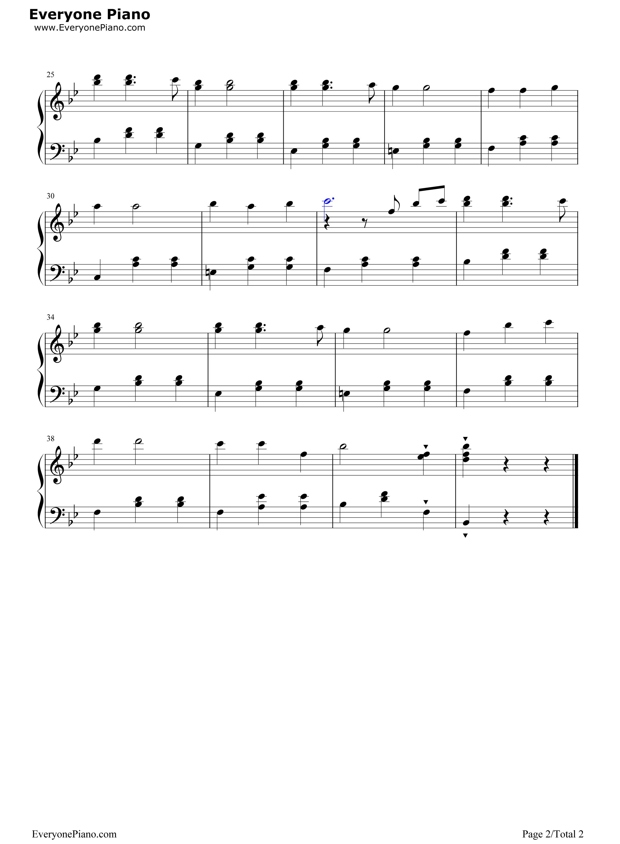 我们多么幸福五线谱预览2-钢琴谱(五线谱,双手简谱)
