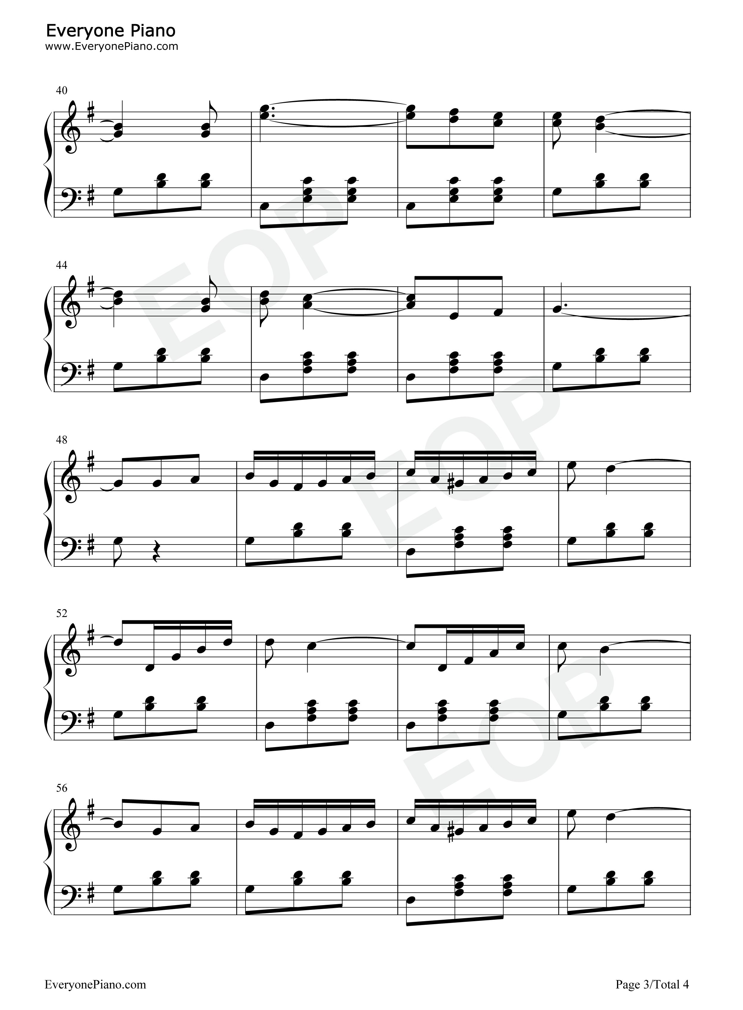 星光圆舞曲五线谱预览3-钢琴谱(五线谱,双手简谱)免费