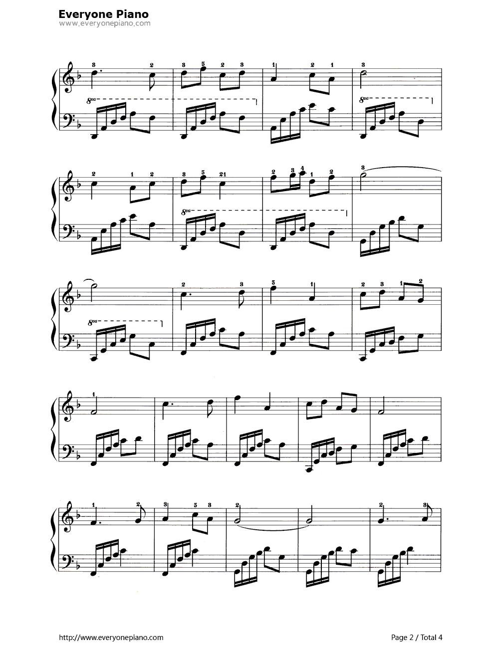 黄水谣五线谱预览2-钢琴谱文件(五线谱,双手简谱,数字图片