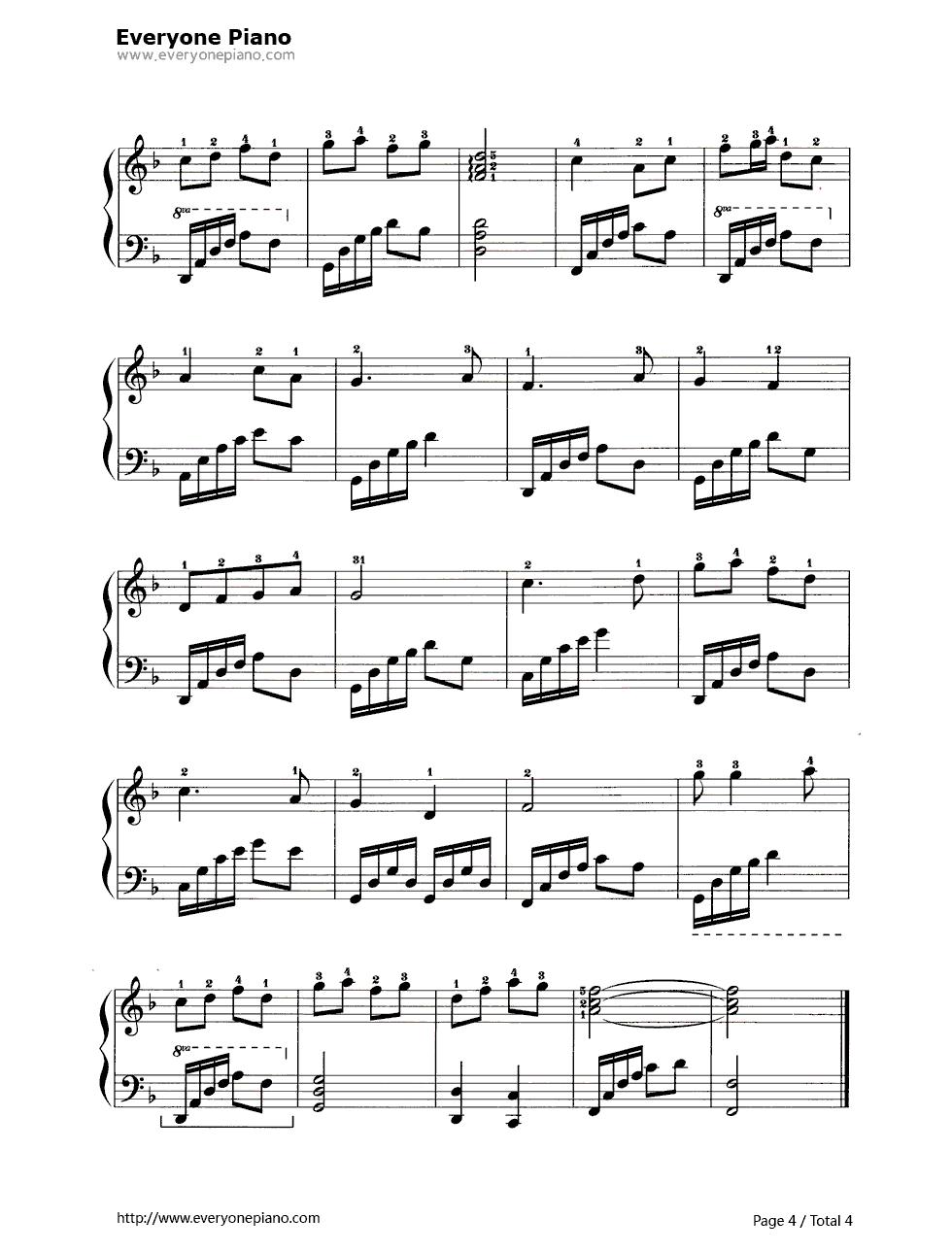 黄水谣五线谱预览4-钢琴谱文件(五线谱,双手简谱,数字