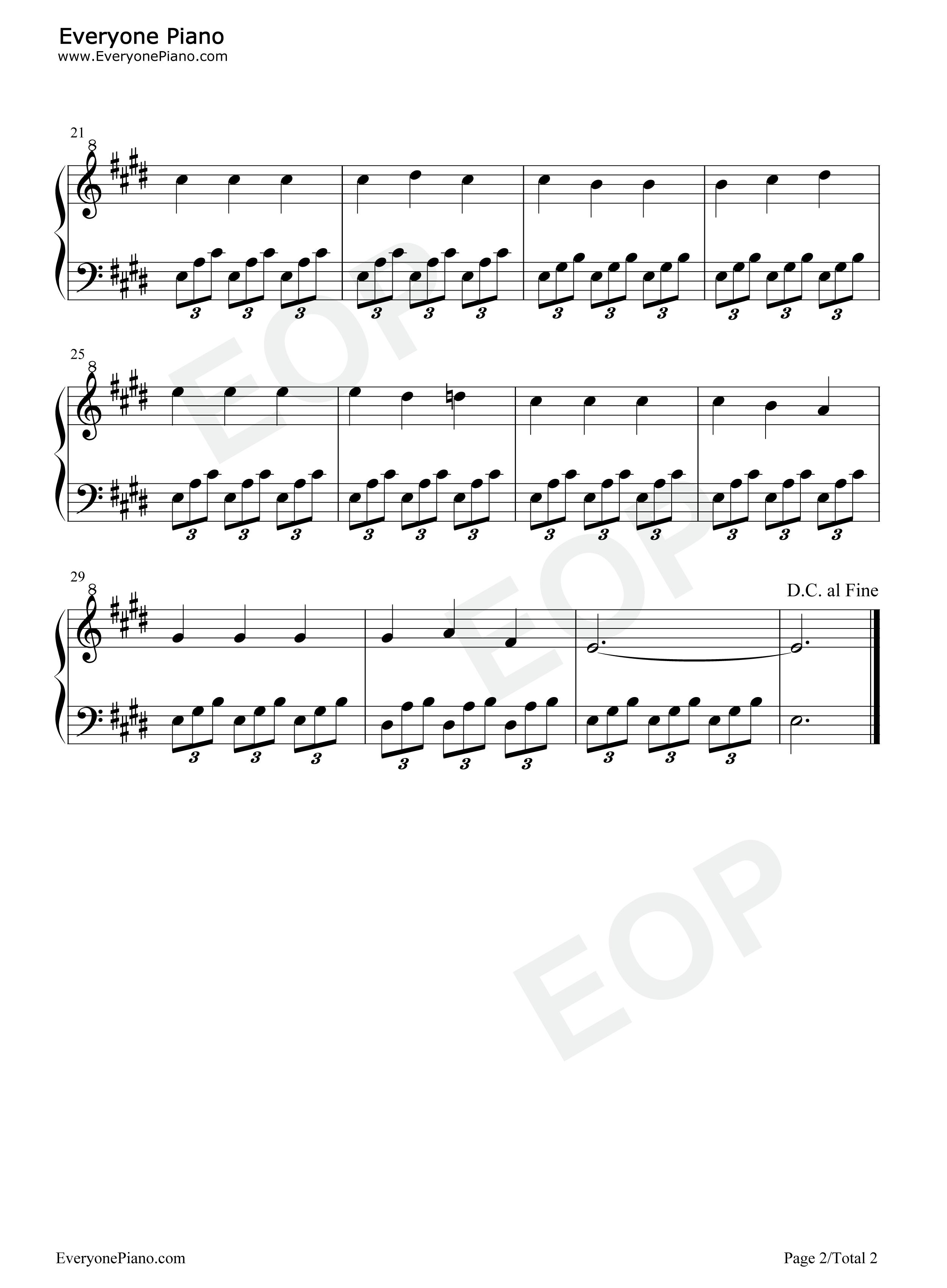 爱的罗曼史 被禁止的游戏 主题曲五线谱预览 EOP在线乐谱架