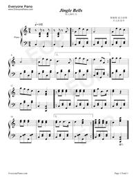 铃儿响叮当(jingle bells)-钢琴谱图片