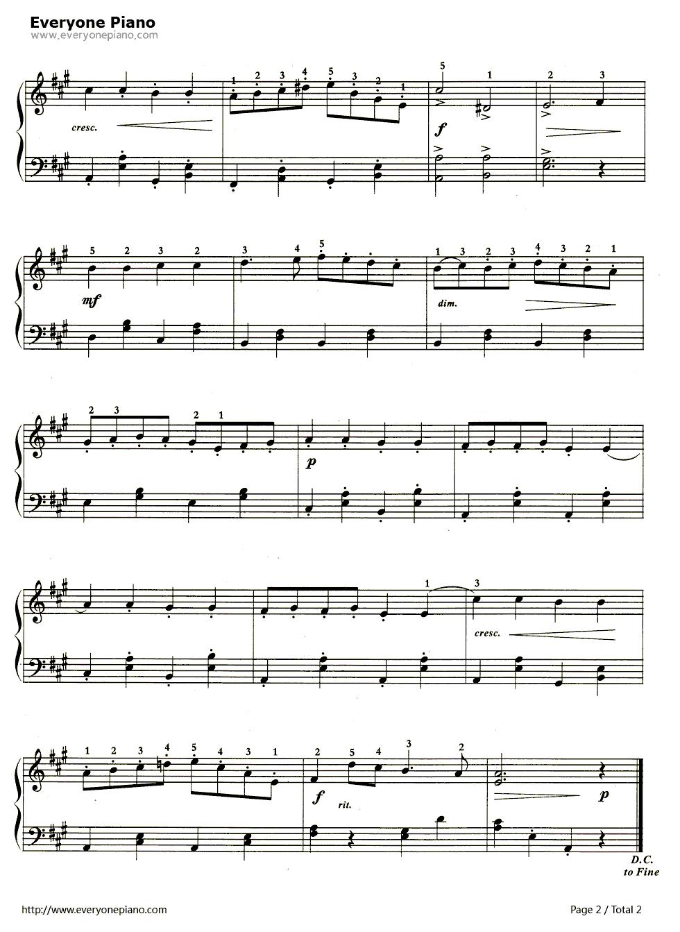 钢琴曲谱 经典 金婚曲—加布瑞尔马利代表作之一 金婚曲—加布瑞尔马