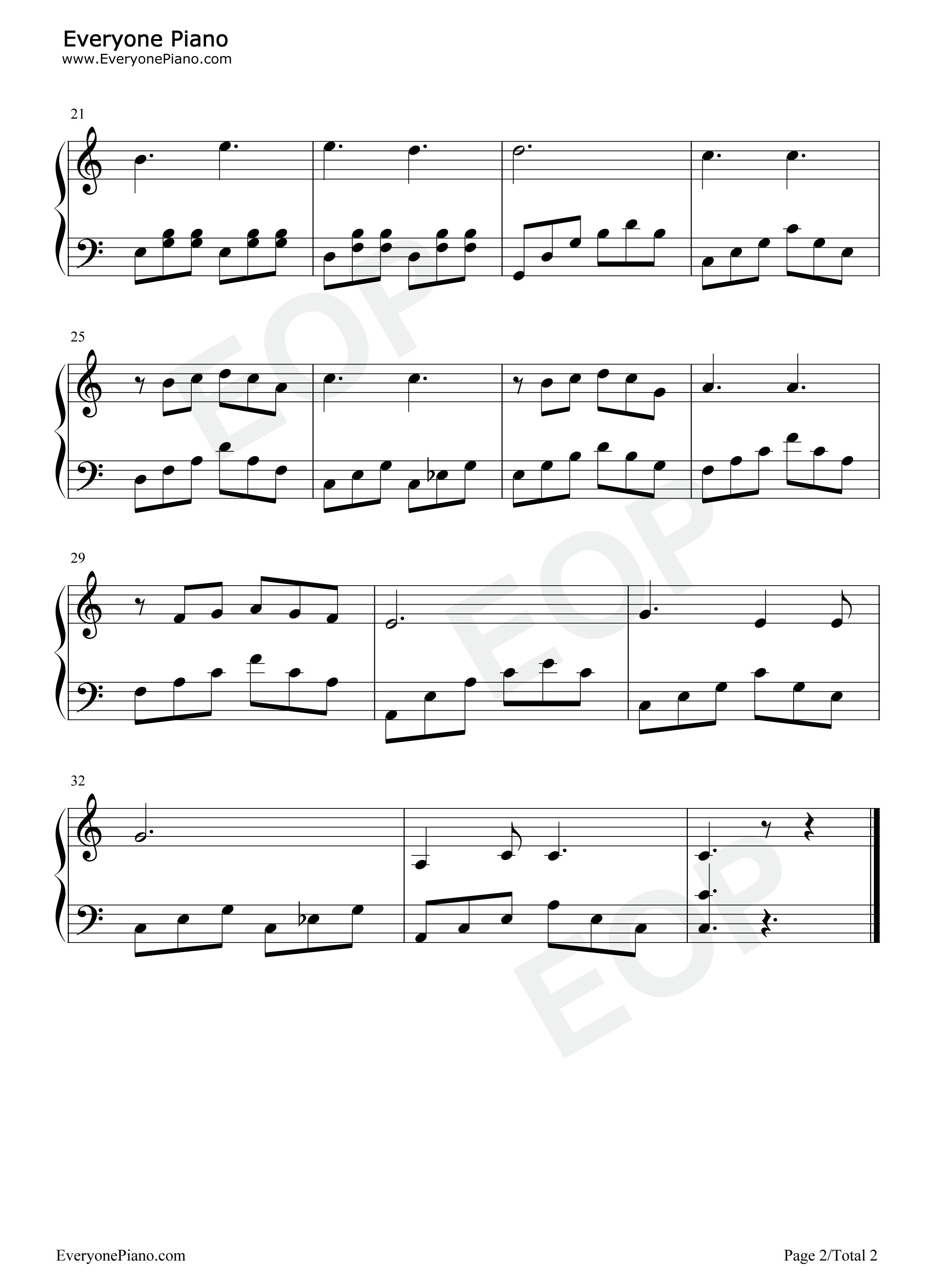 回忆(memory)-音乐剧《猫》插曲五线谱预览2