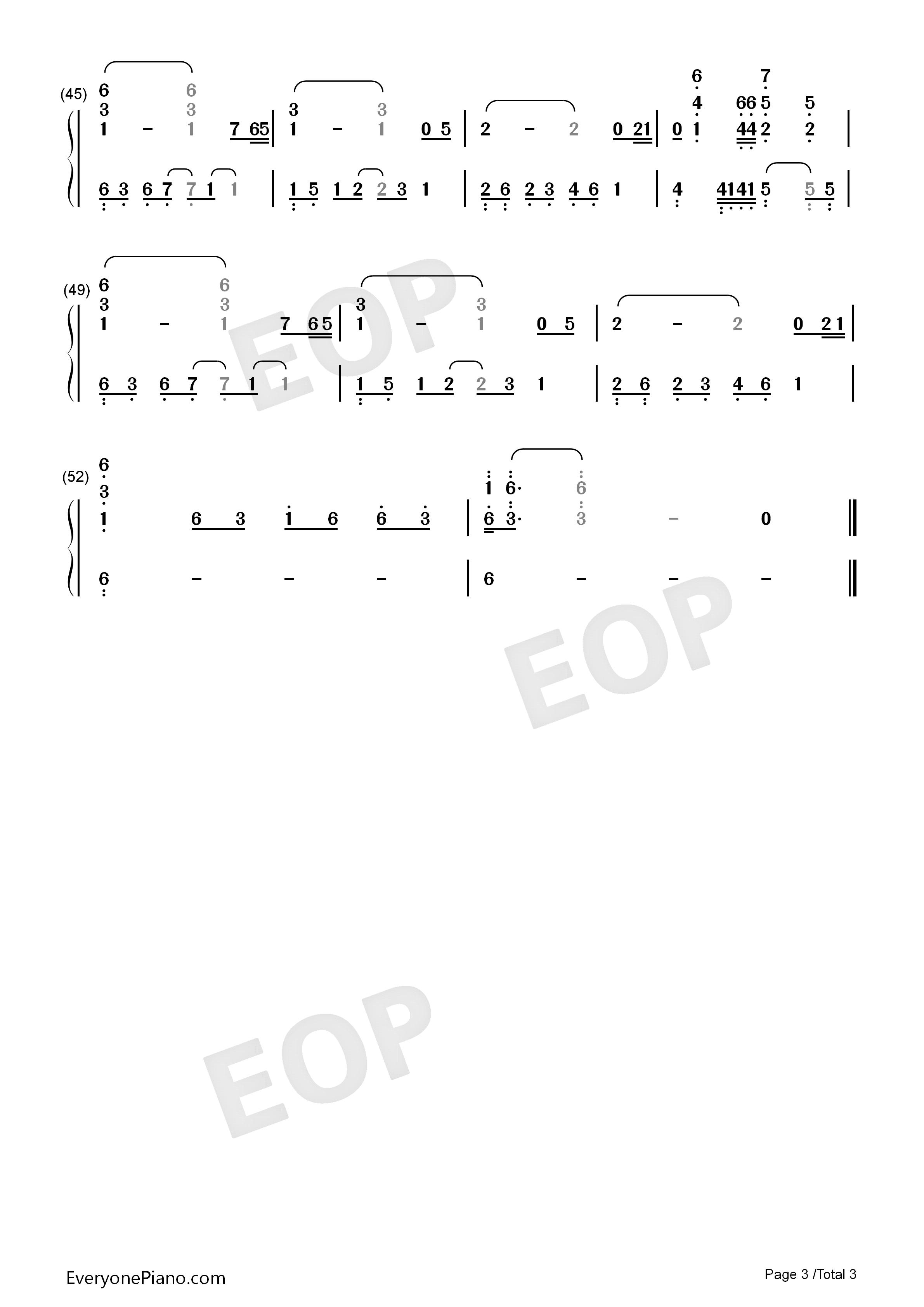 网站首页 钢琴曲谱 动漫 三代目的葬礼-火影忍者插曲 >> 三代目的葬礼
