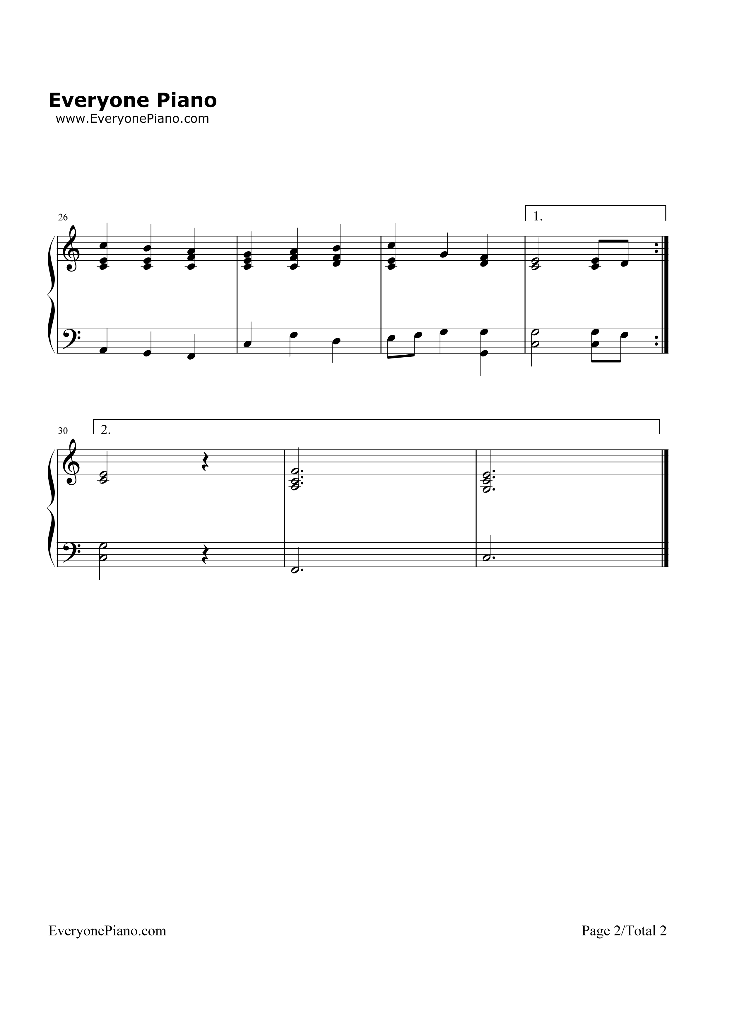 the first noel-圣诞歌曲五线谱预览2
