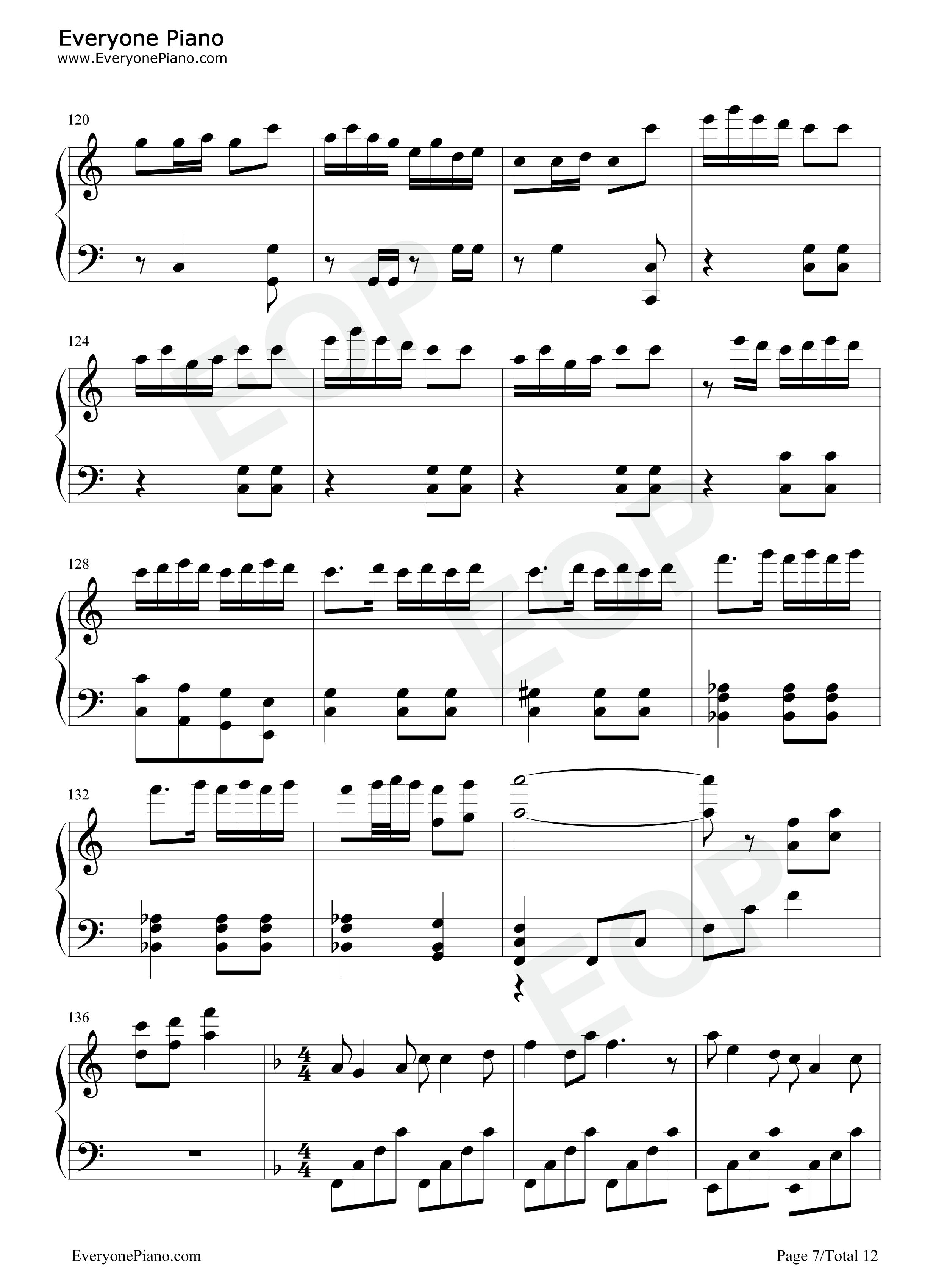 春节序曲五线谱预览 EOP在线乐谱架