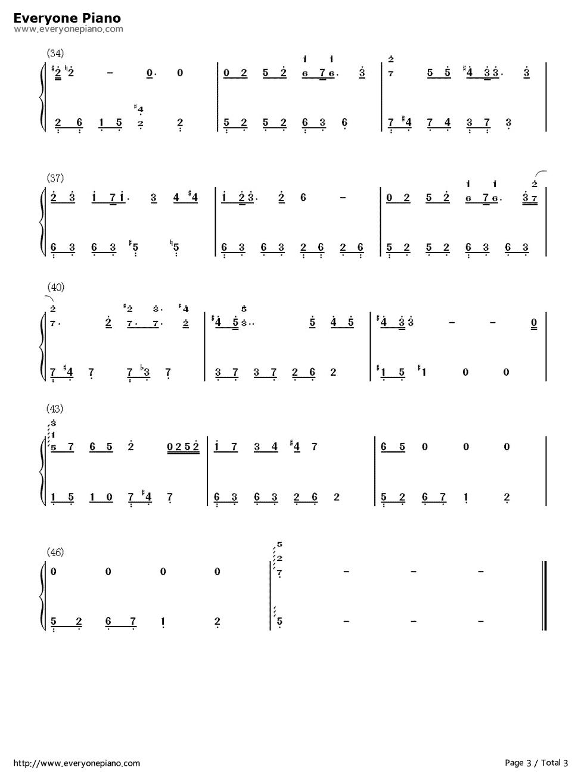 i believe c调钢琴简谱