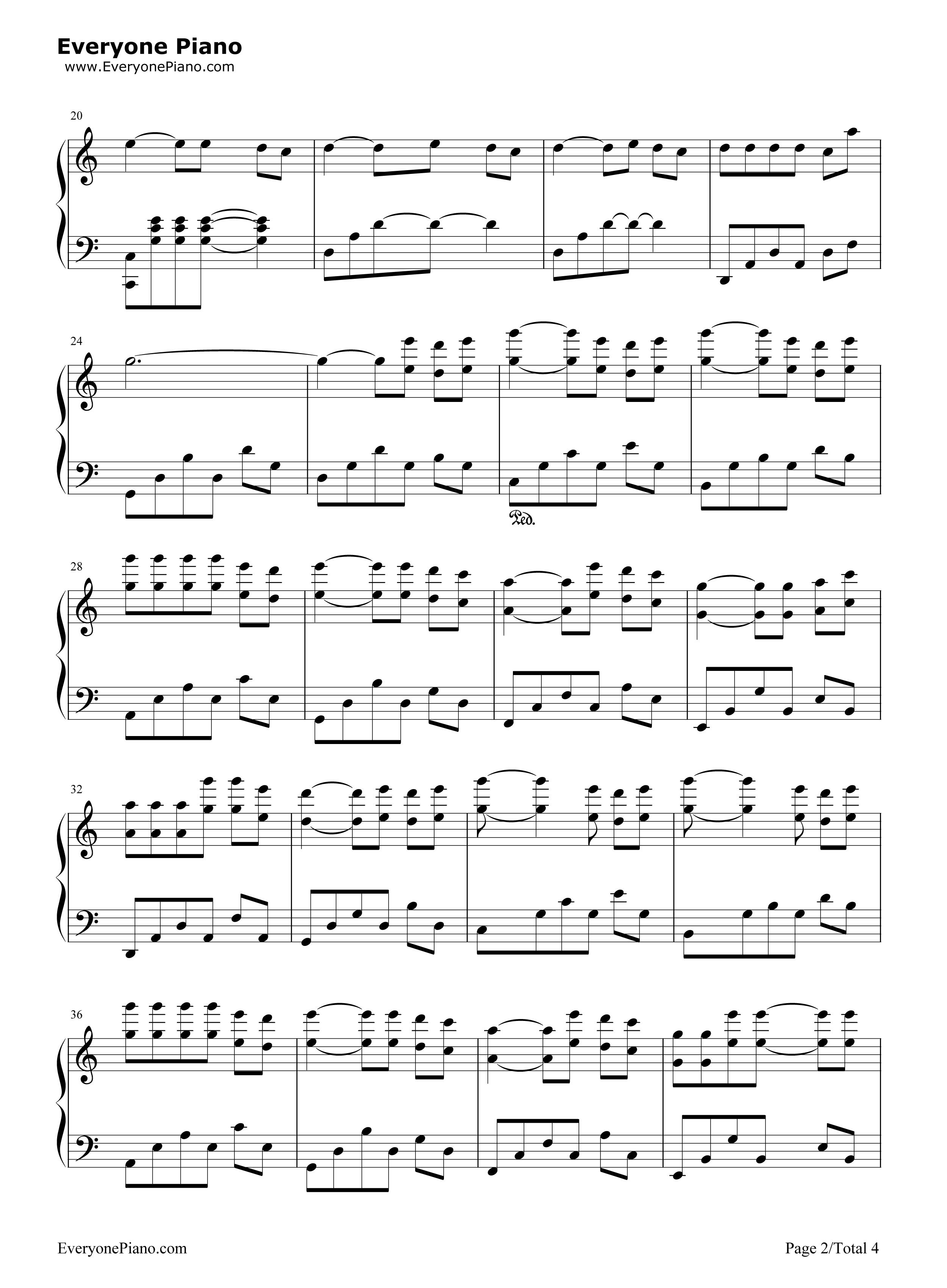 庐州月吉他_庐州月完美版-许嵩五线谱预览2