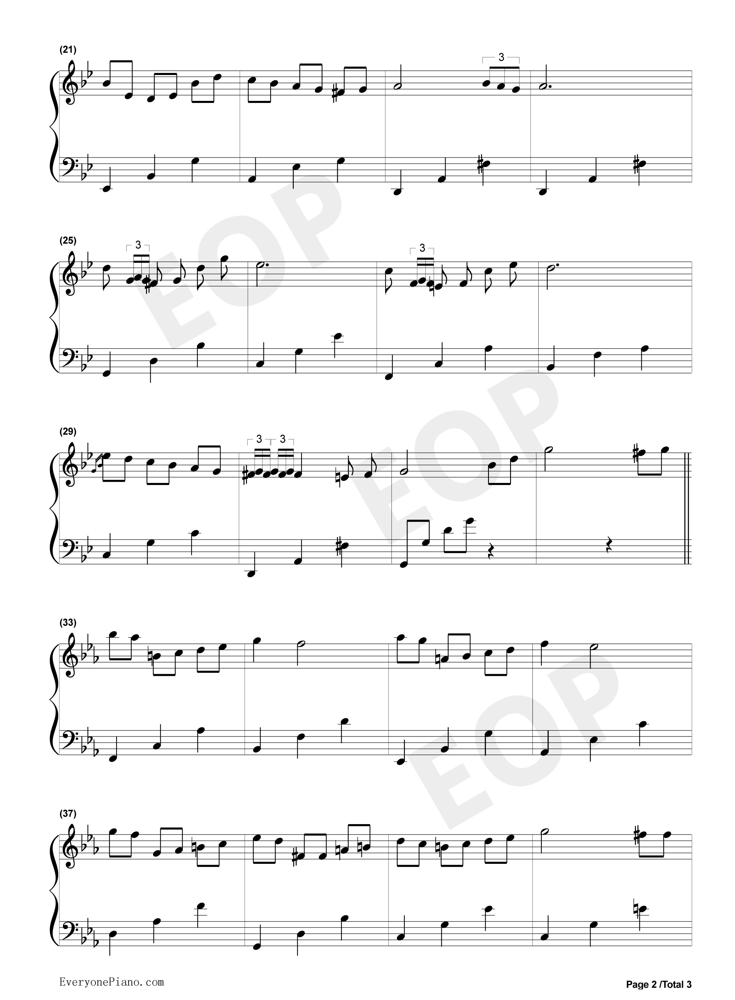 bts歌曲钢琴简谱