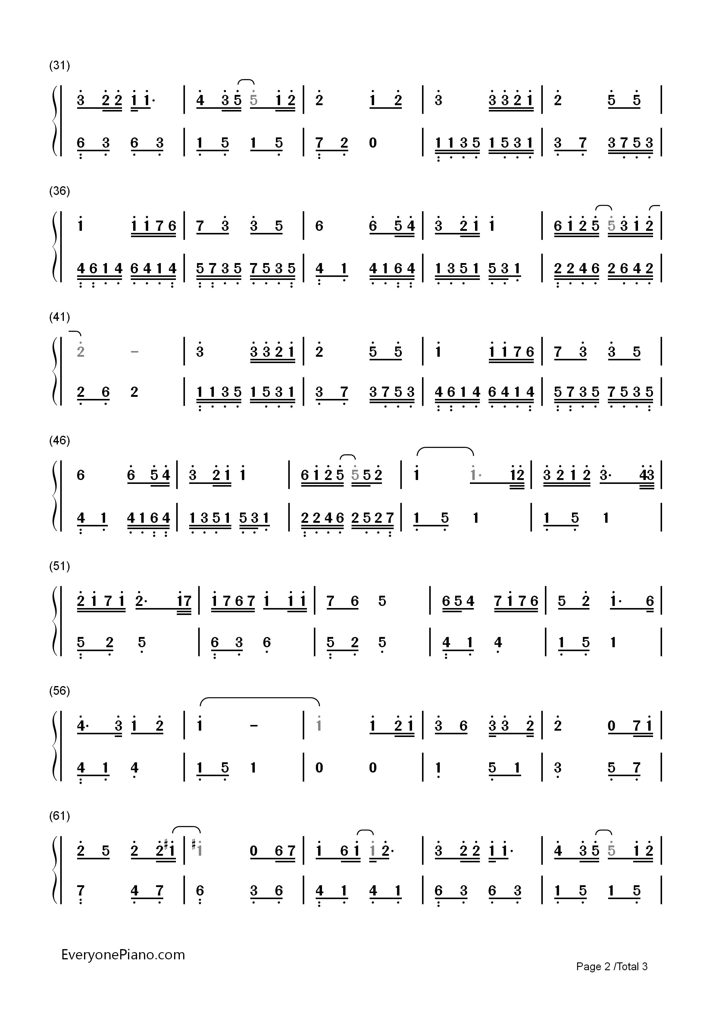 卡农 钢琴 版