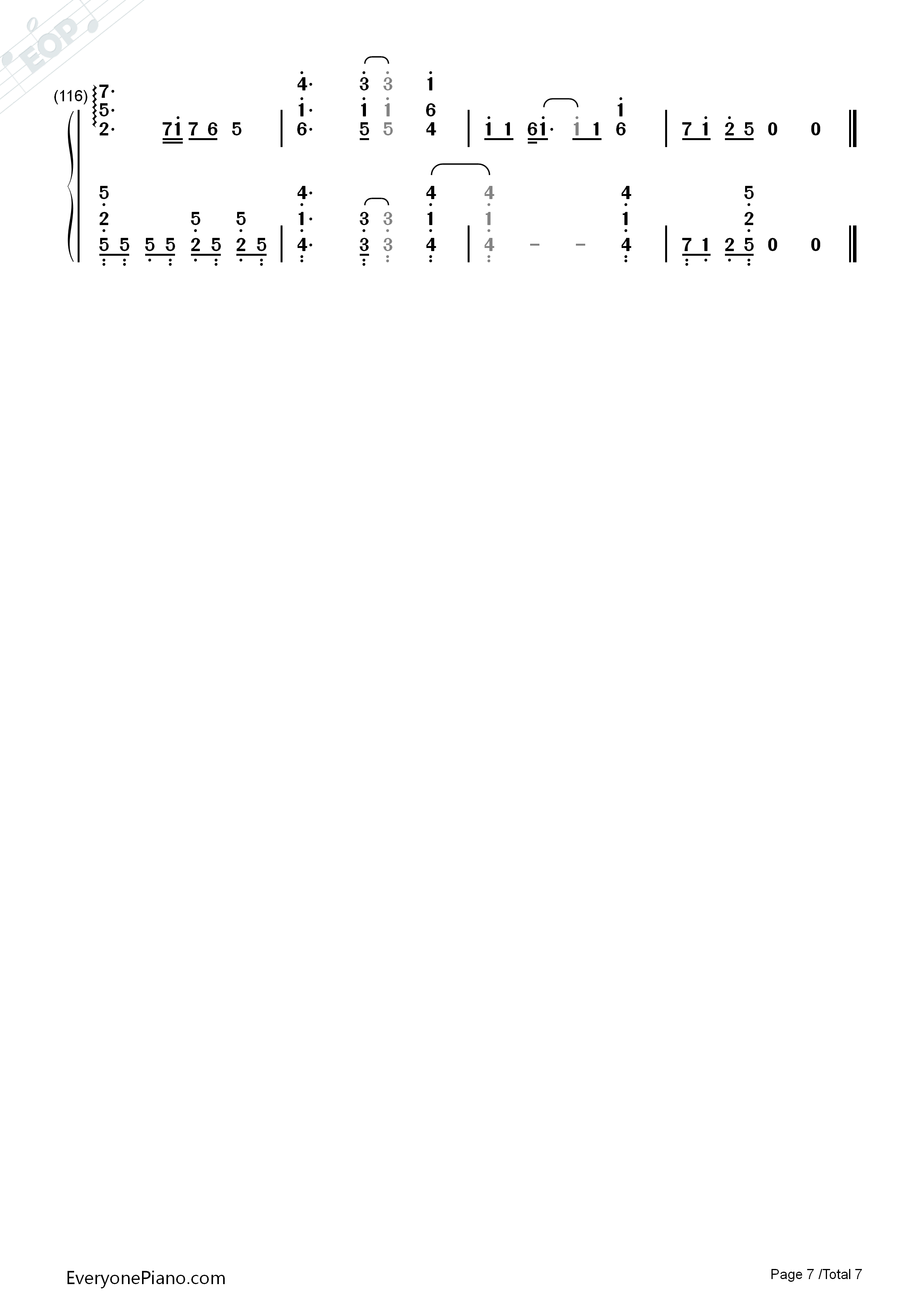 butter fly-数码宝贝大冒险主题曲双手简谱预览7