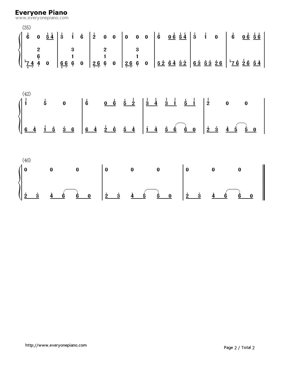 远い空へ-缘之空纯音乐双手简谱预览2