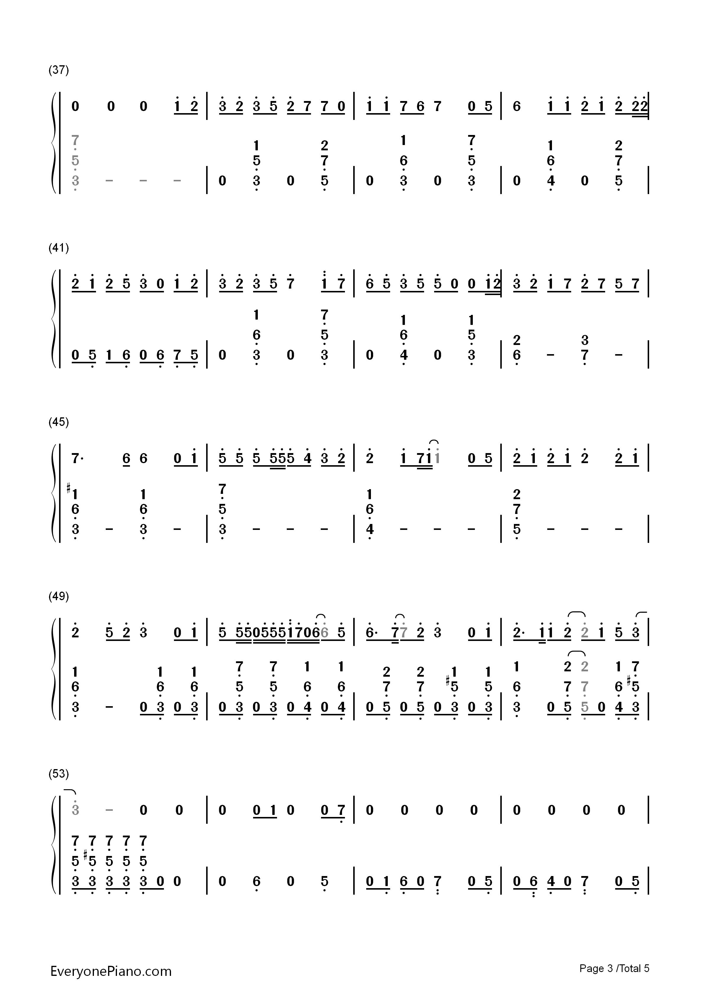 深海少女 初音ミク双手简谱预览 EOP在线乐谱架