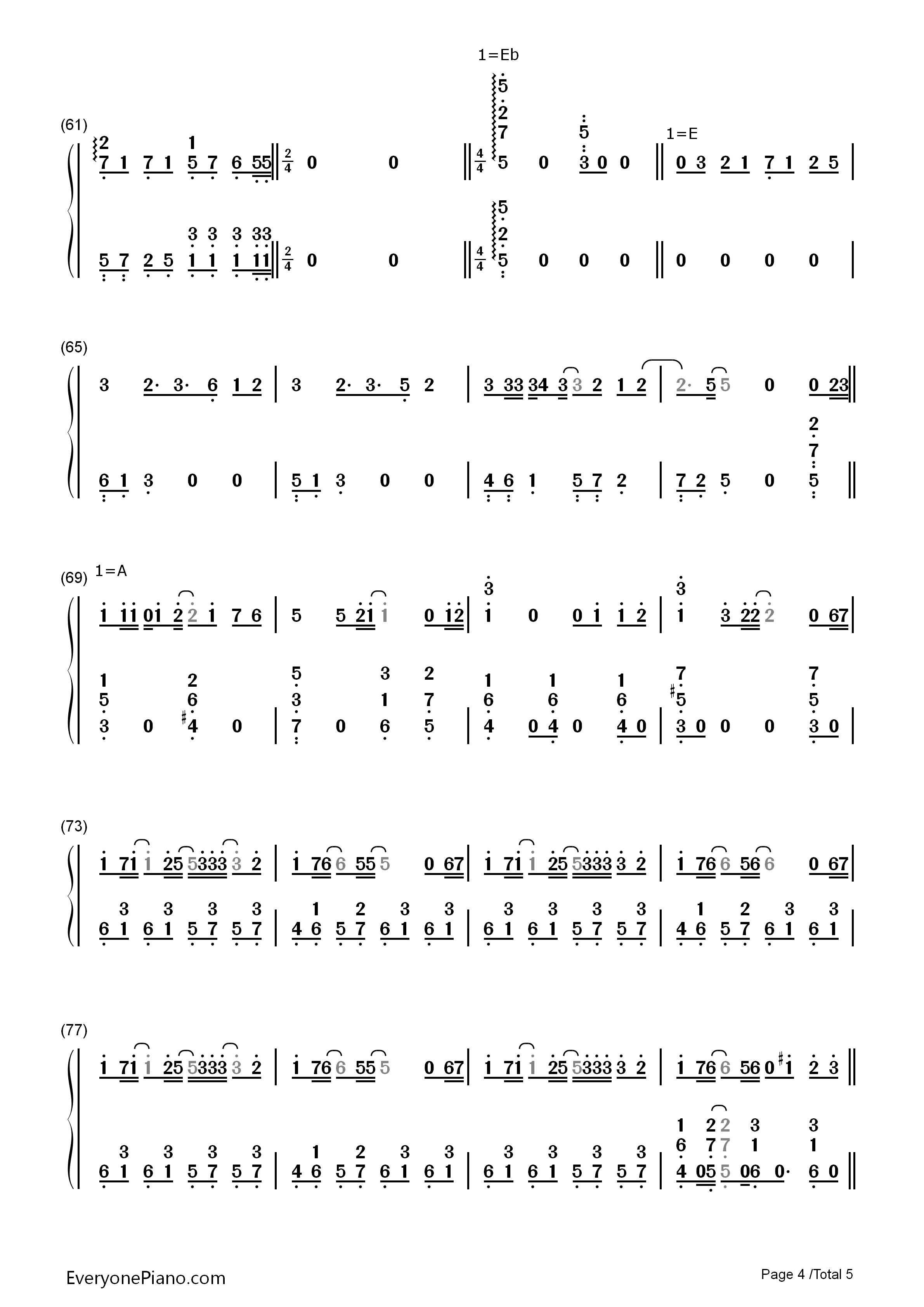 美丽之物口琴简谱