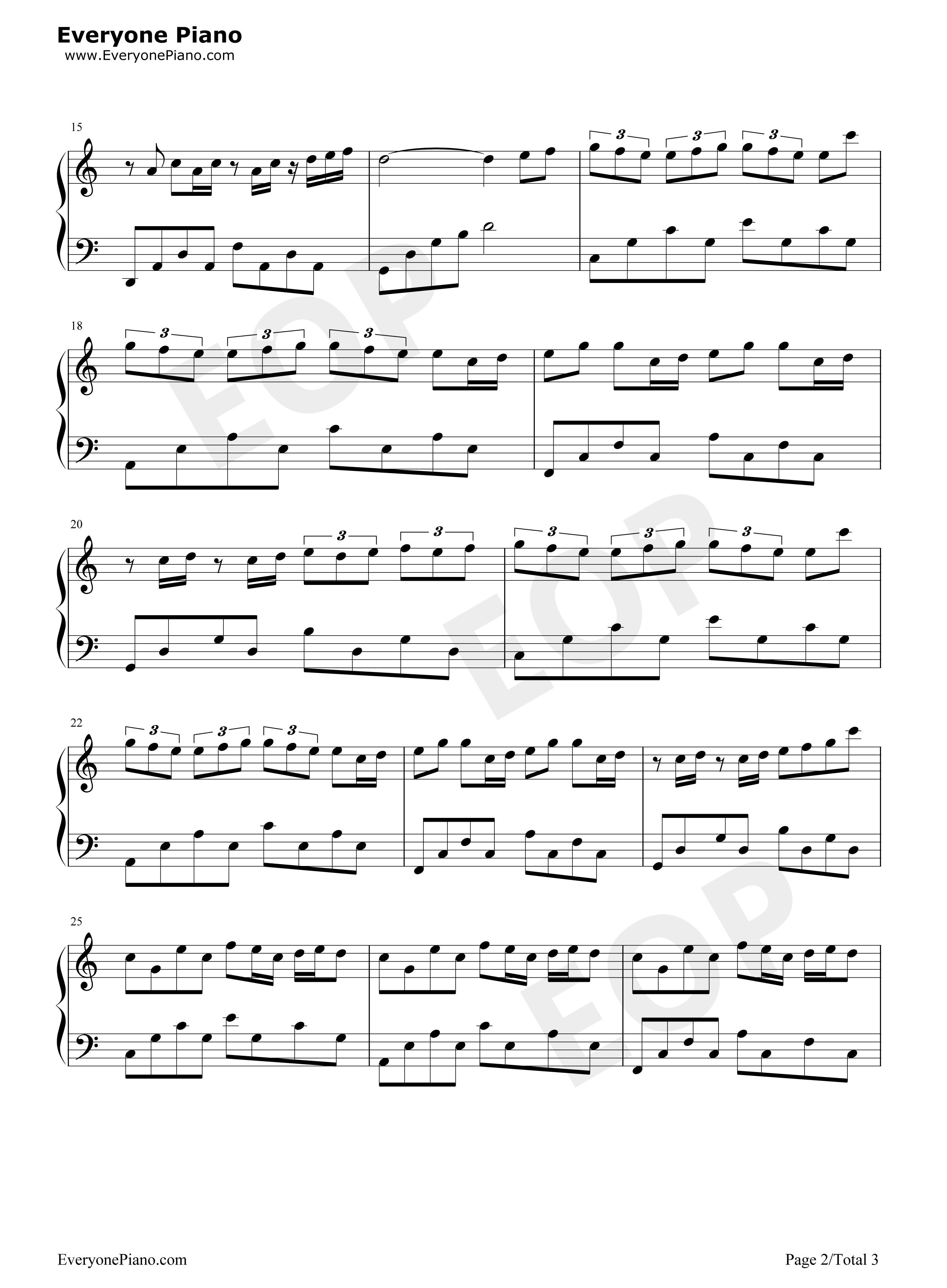 钢琴曲谱 流行
