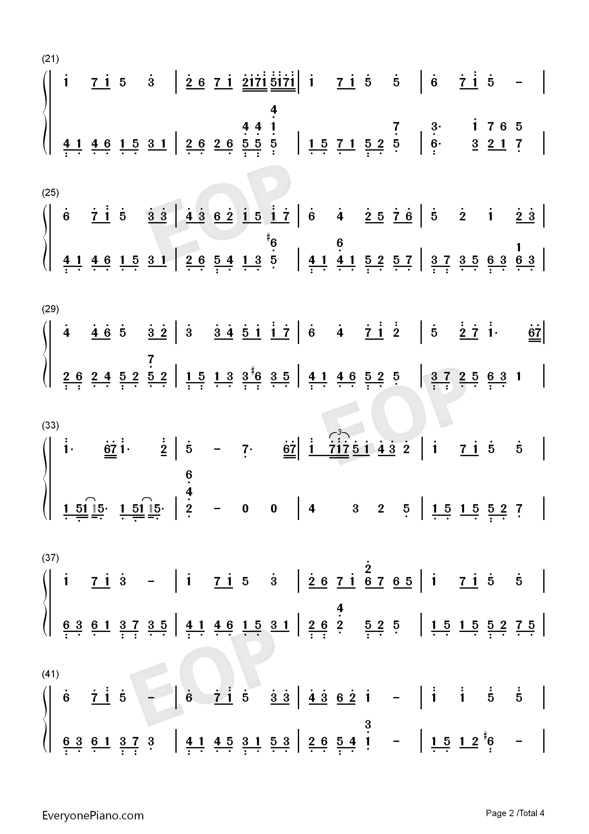 知足笛子简谱