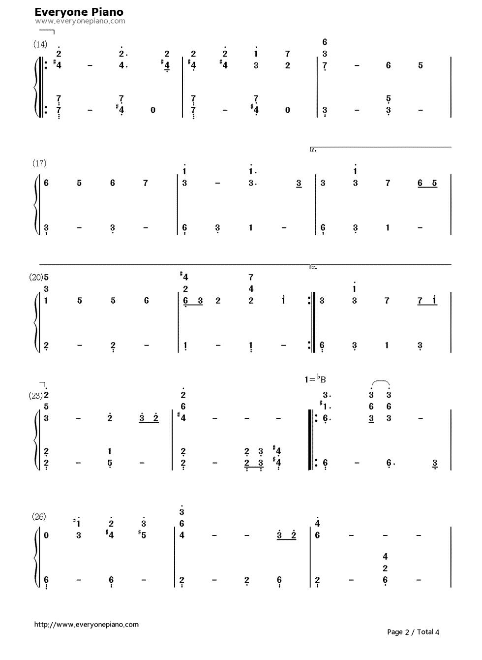 钢琴曲谱 流行 黑色幽默-周杰伦 黑色幽默-周杰伦双手简谱预览2