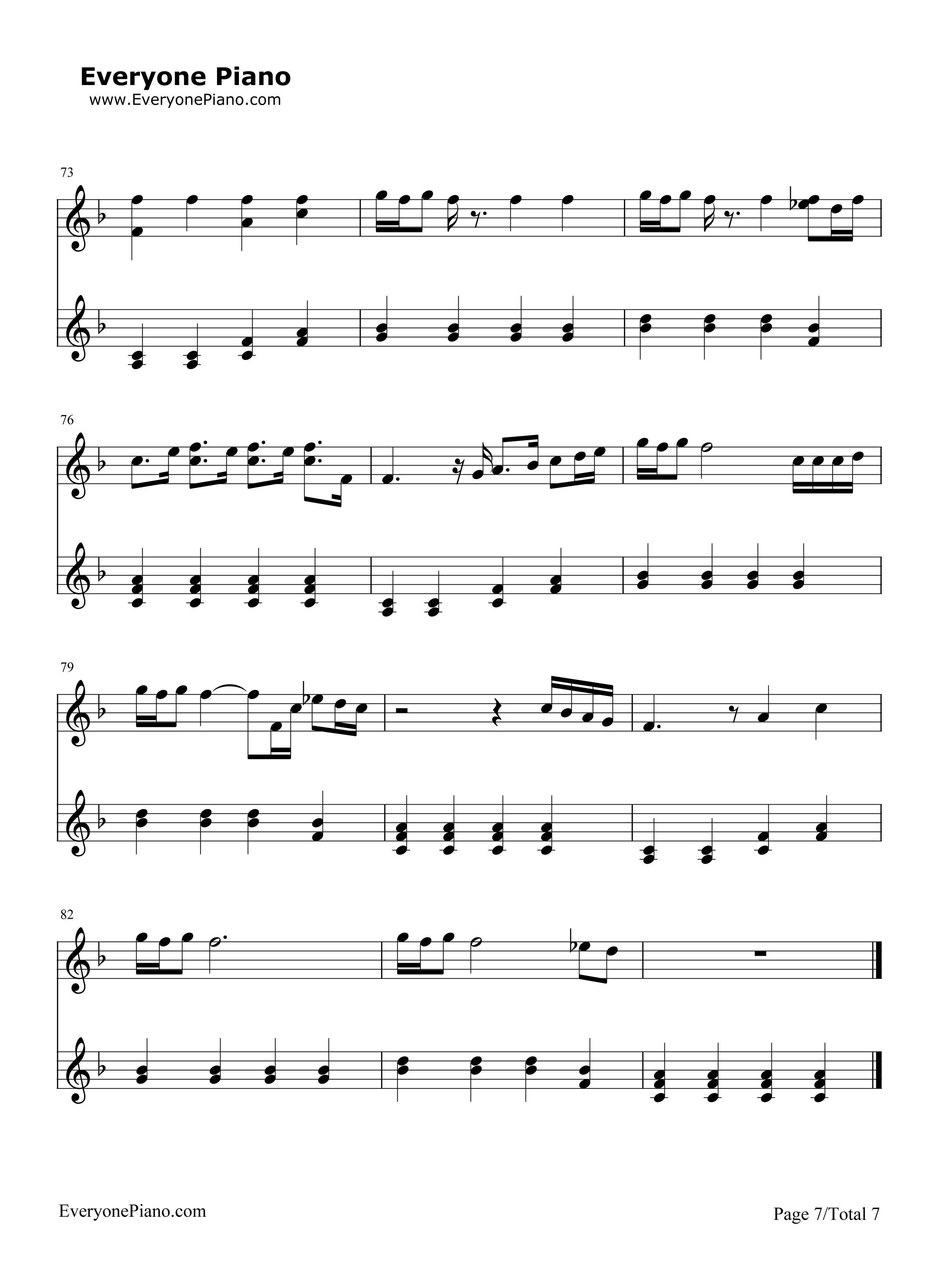 五线谱预览7 钢琴谱文件 五线谱 双手简谱 数字谱 Midi PDF 免费下载