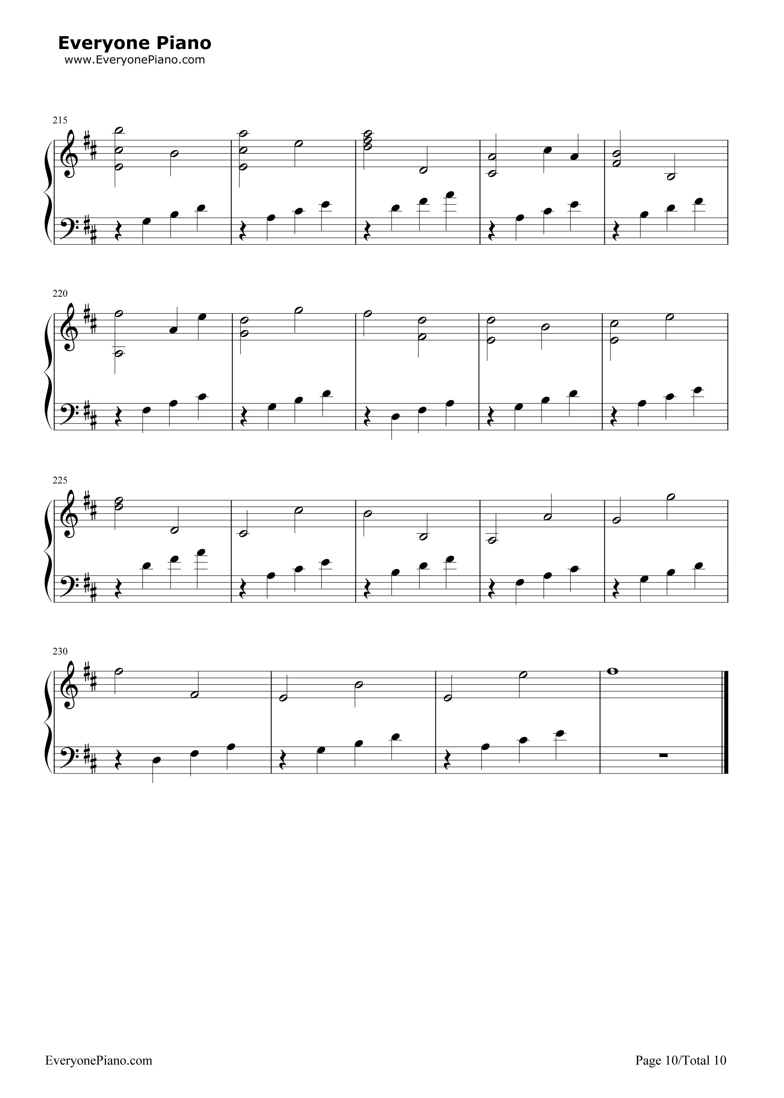D大调卡农原版 约翰 帕赫贝尔五线谱预览 EOP在线乐谱架