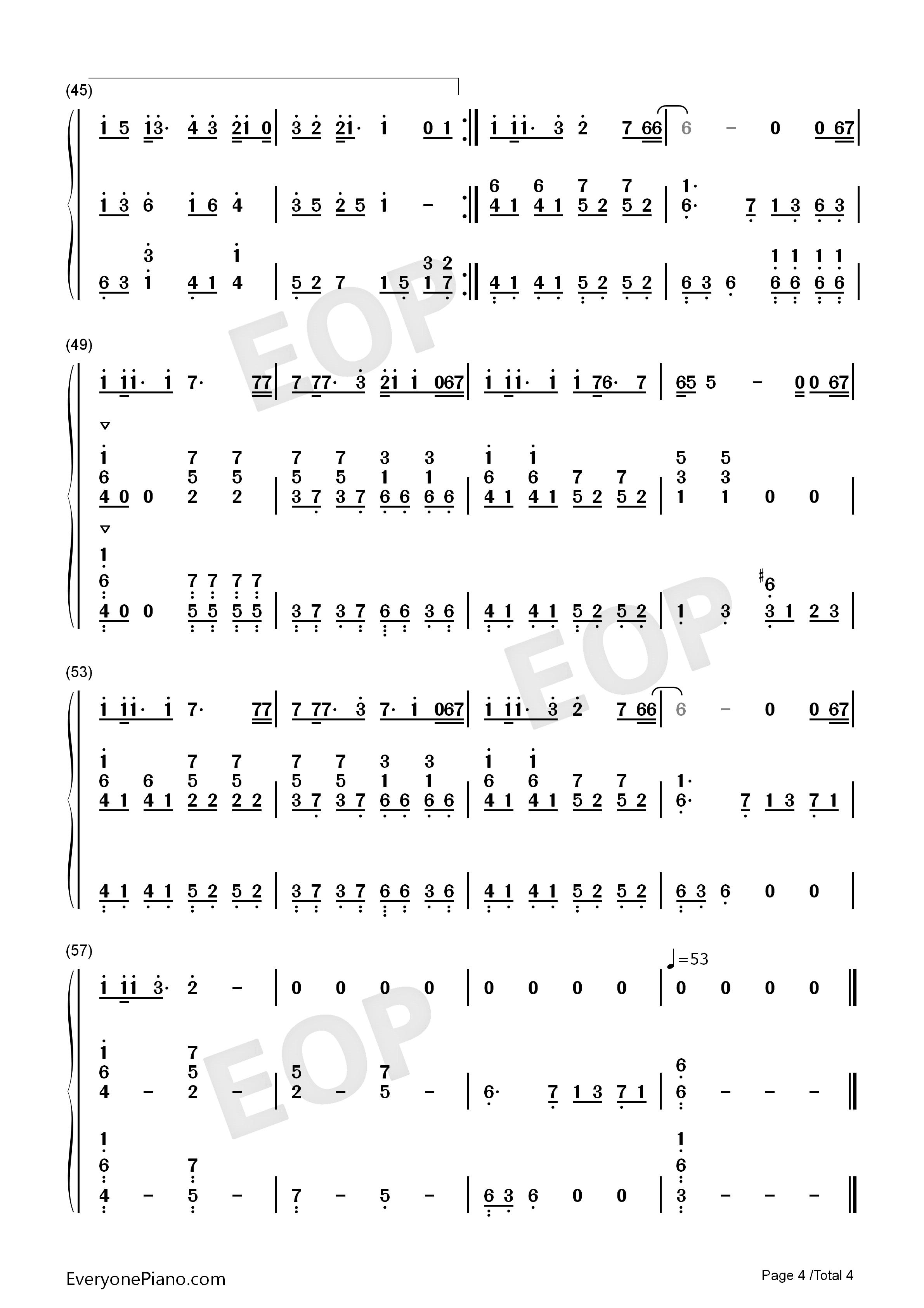 父亲-伴奏-筷子兄弟双手简谱预览4