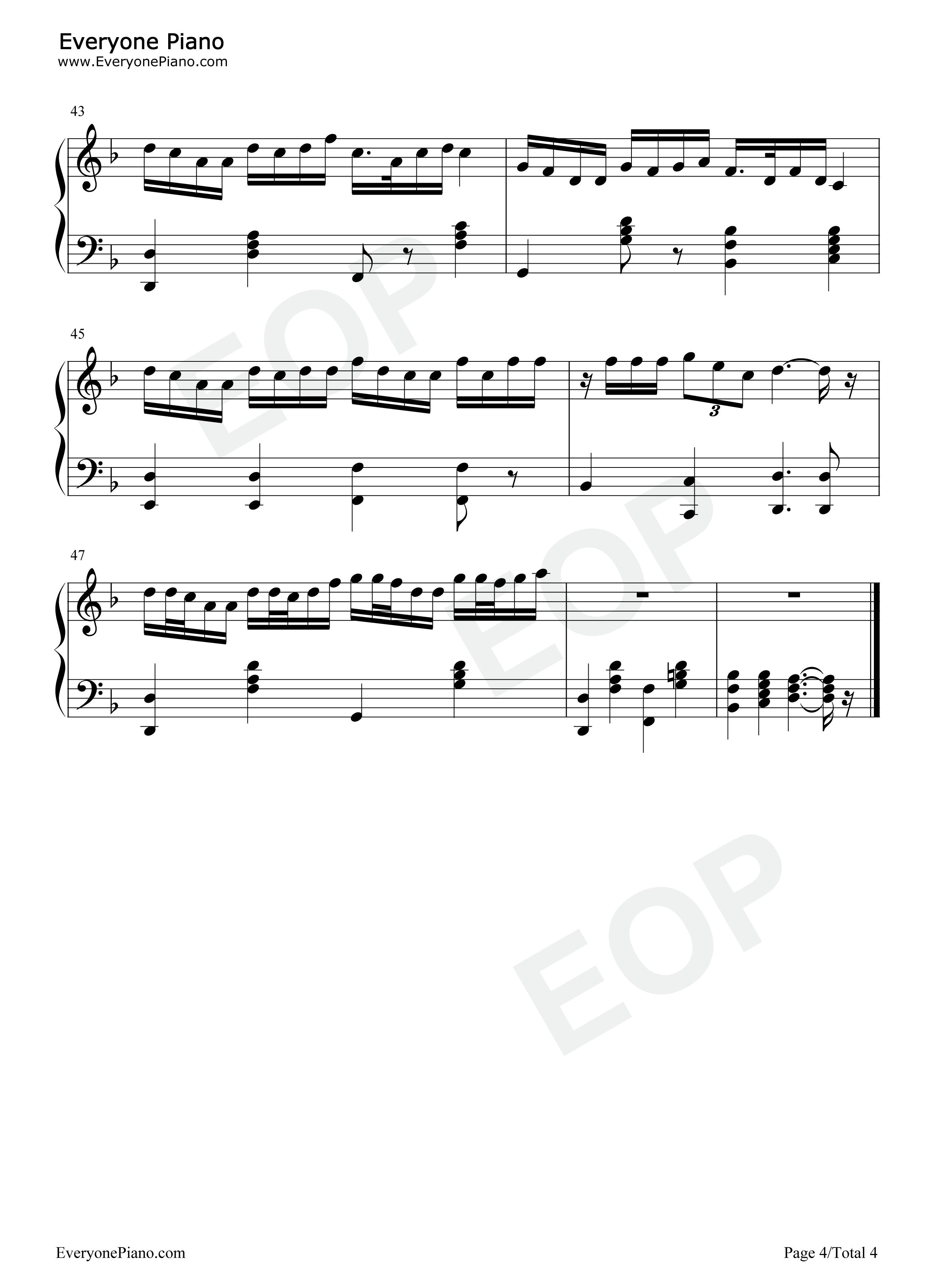 刀剑如梦-周华健-eop教学曲五线谱预览4-钢琴谱