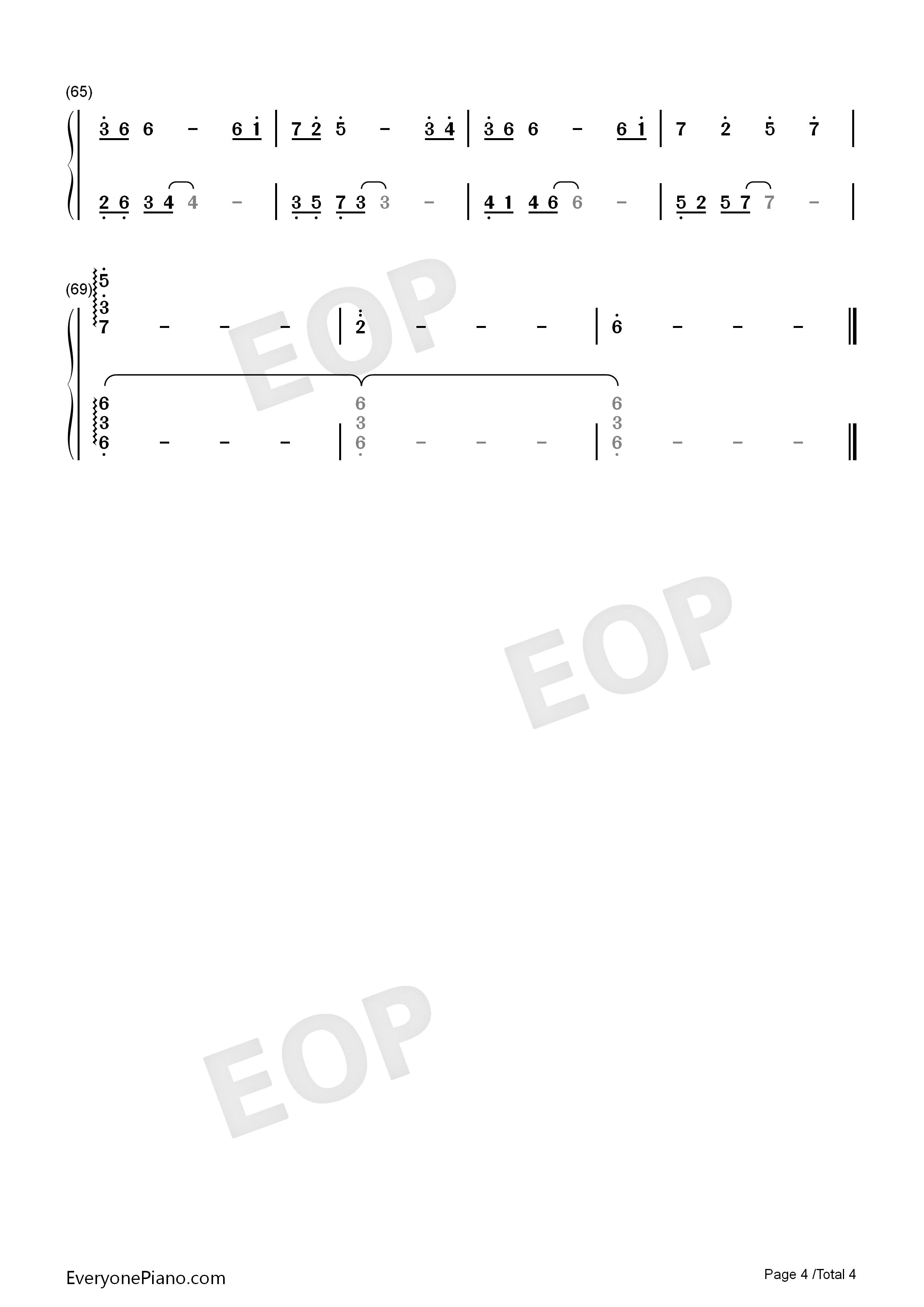 夜的钢琴曲八双手简谱