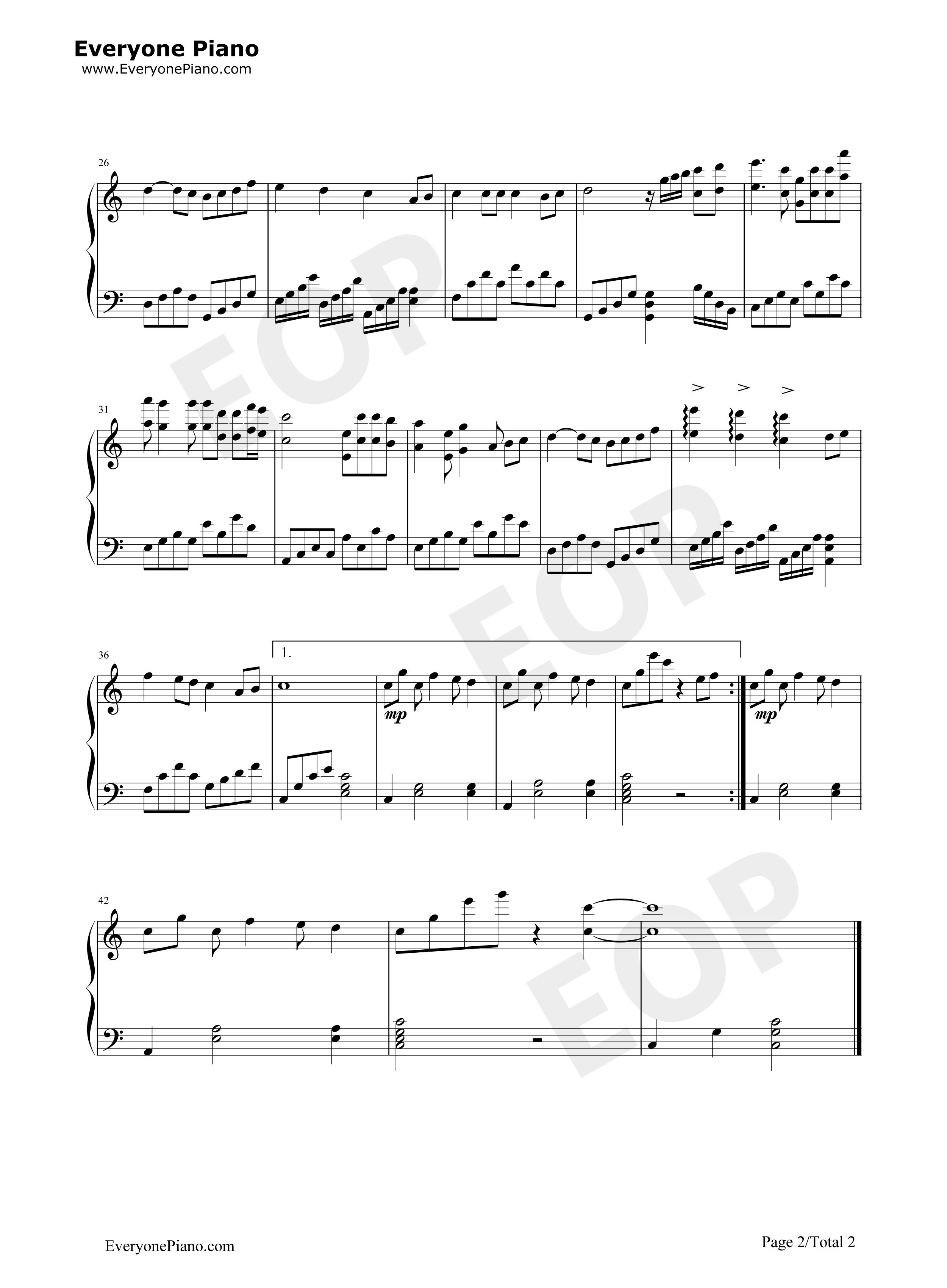 是非题-范玮琪五线谱预览2-钢琴谱