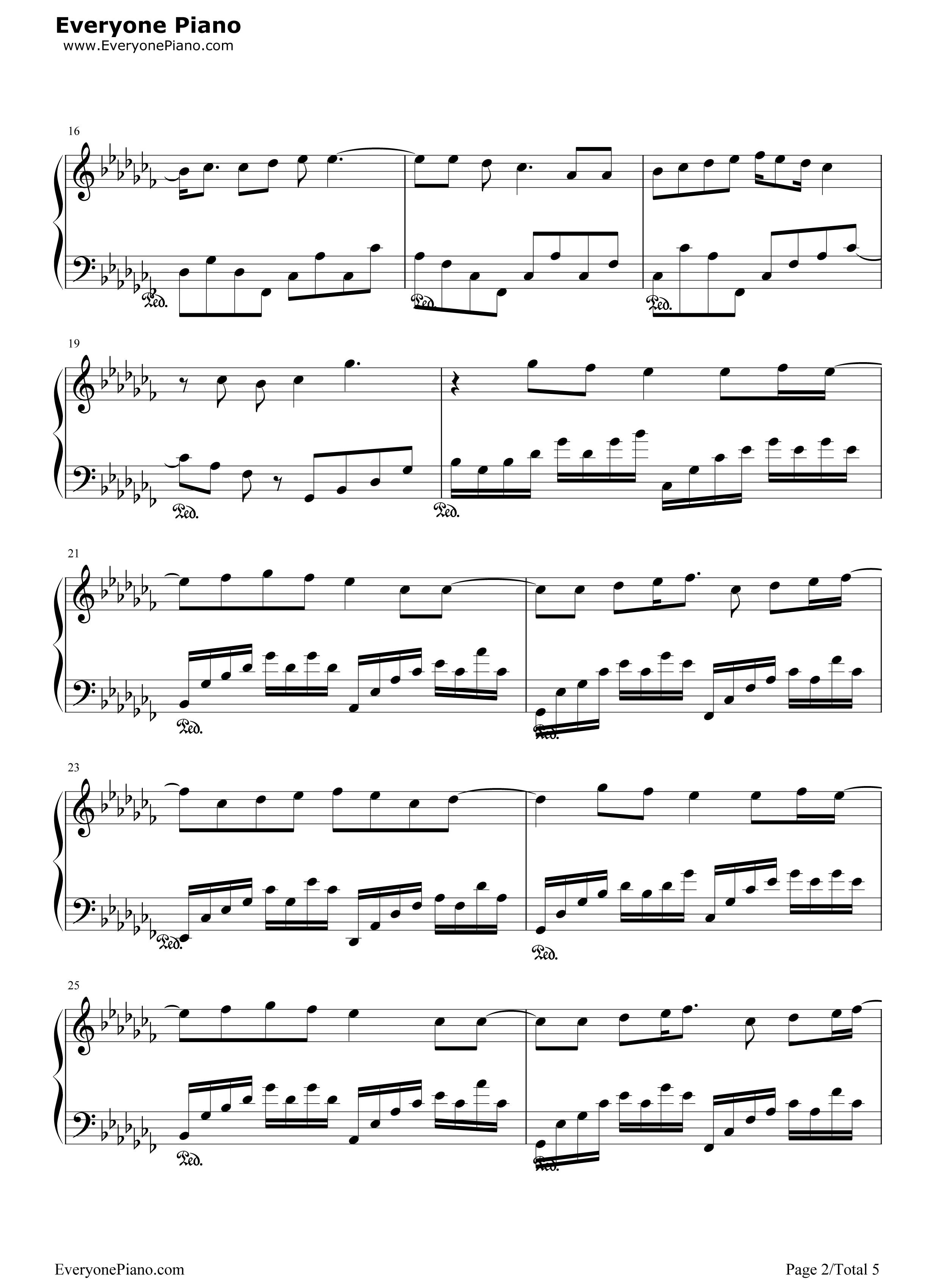 网站首页 钢琴曲谱 流行 仰望星空-张杰 >> 仰望星空-张杰五线谱预览2