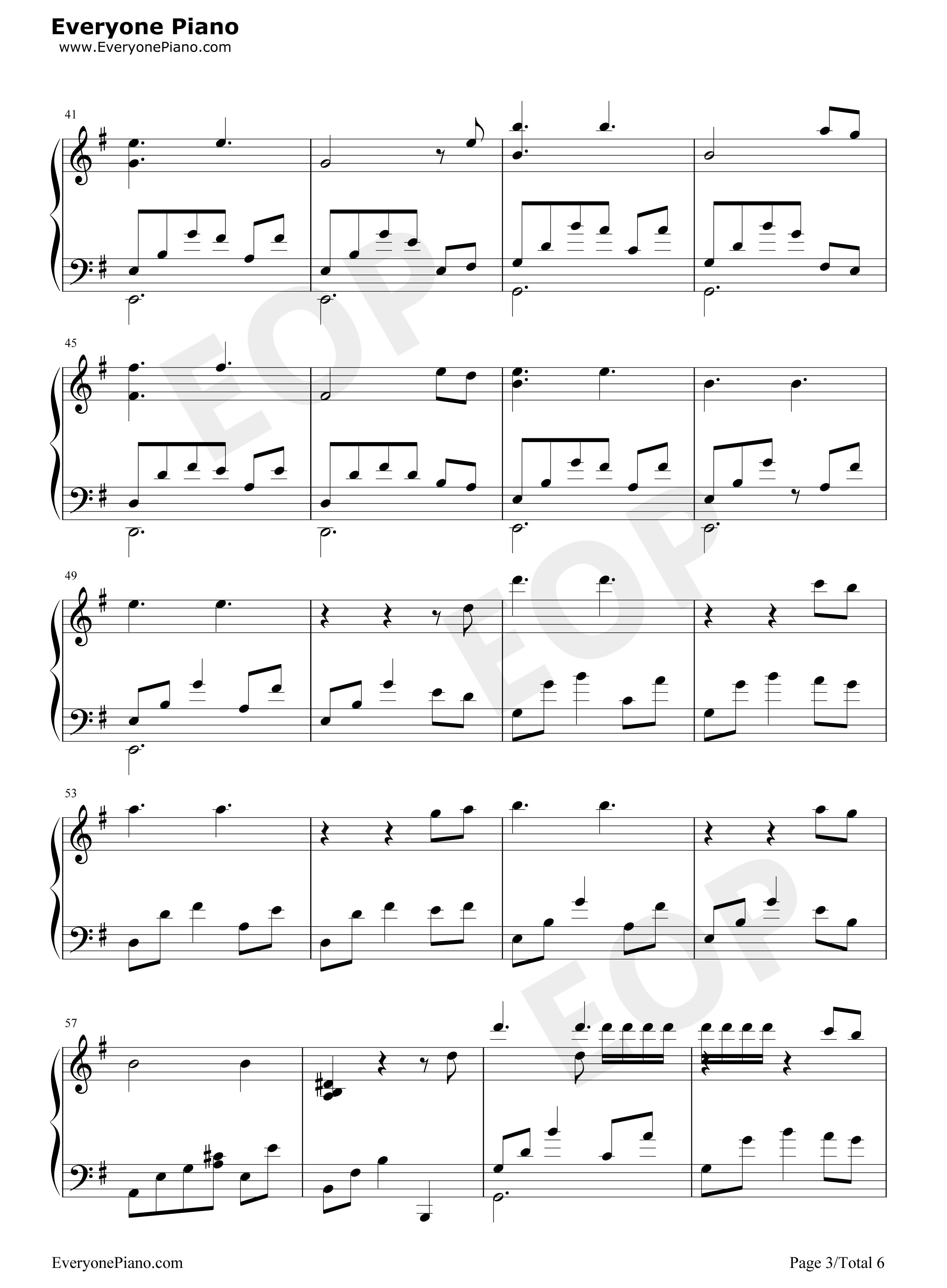 钢琴曲谱 轻音乐 月光边境-林海 月光边境-林海五线谱预览3   仅供