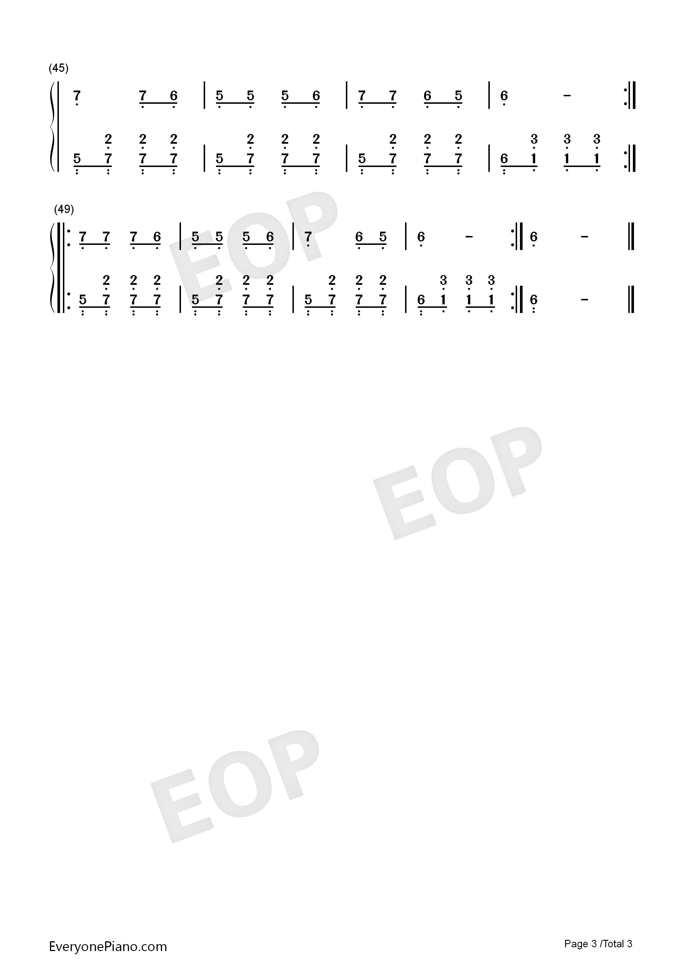 乡间的小路 齐豫双手简谱预览 EOP在线乐谱架
