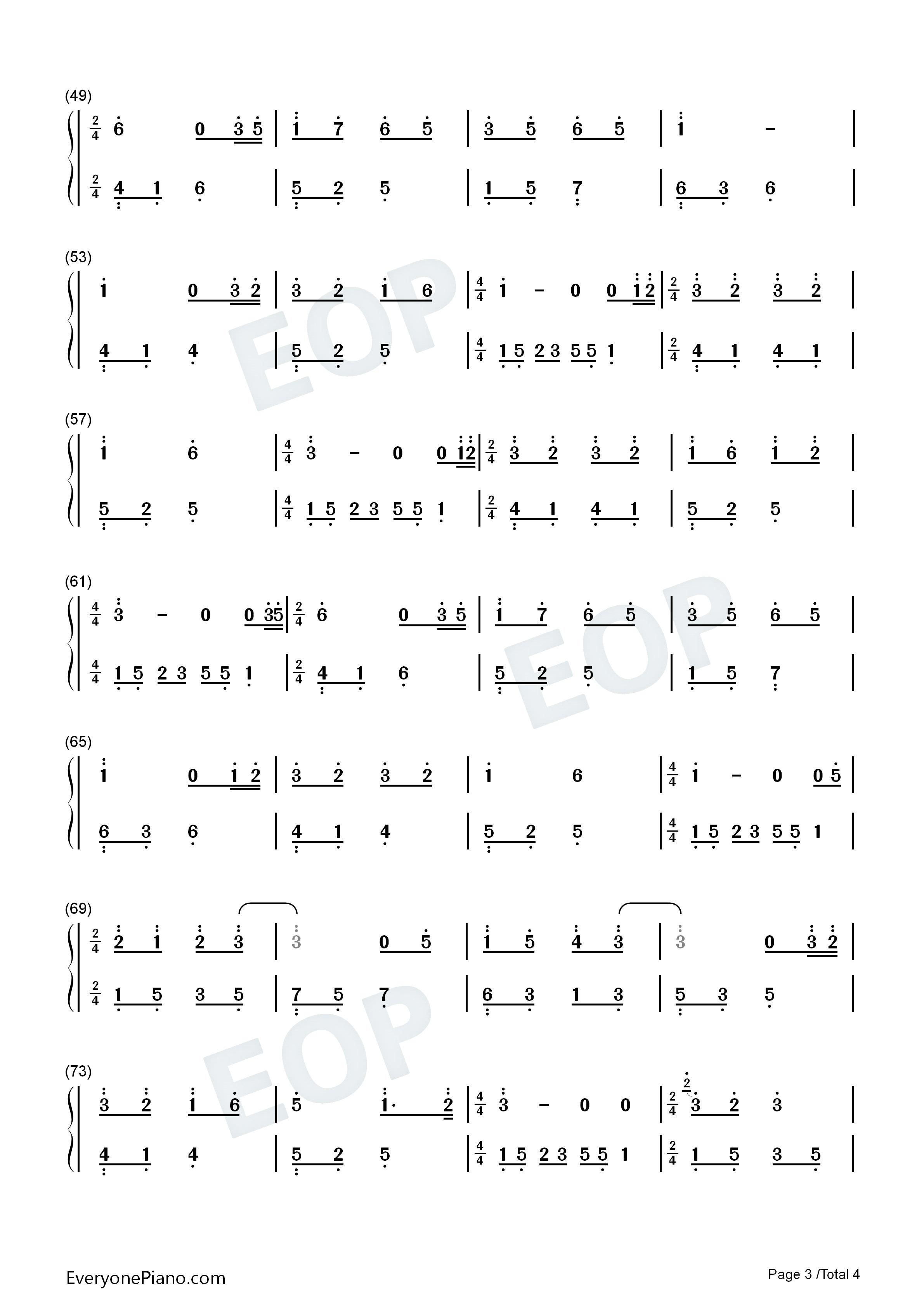 夜的钢琴曲15双手简谱预览3