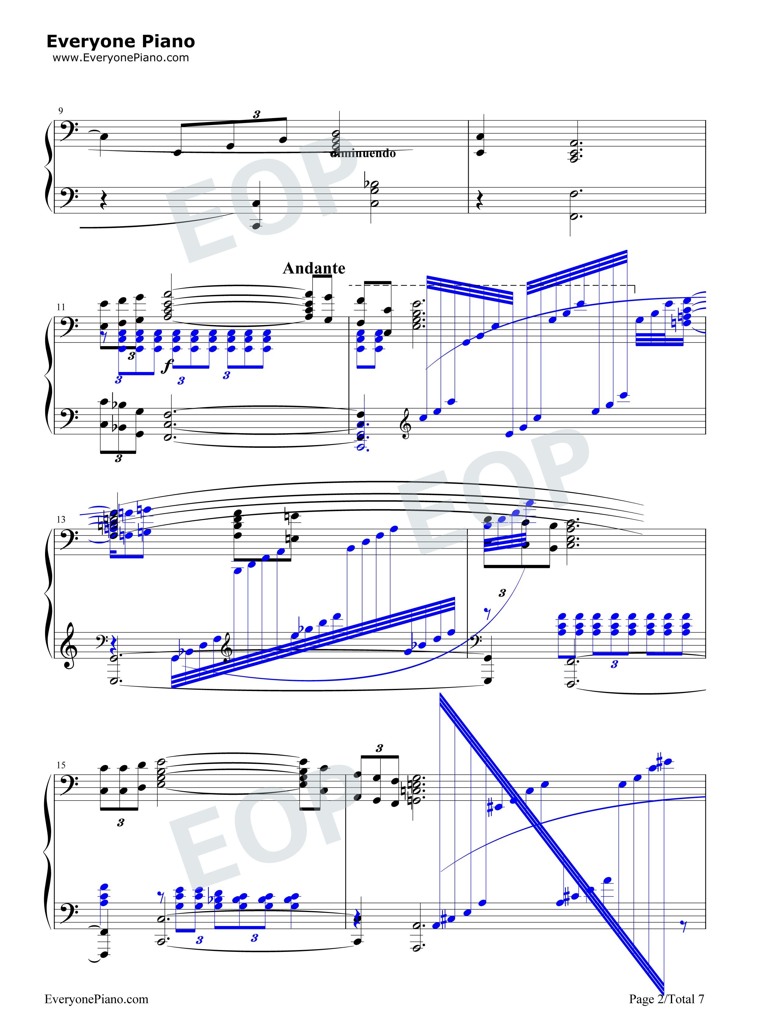我爱你中国-电影《海外赤子》插曲五线谱预览2-钢琴谱