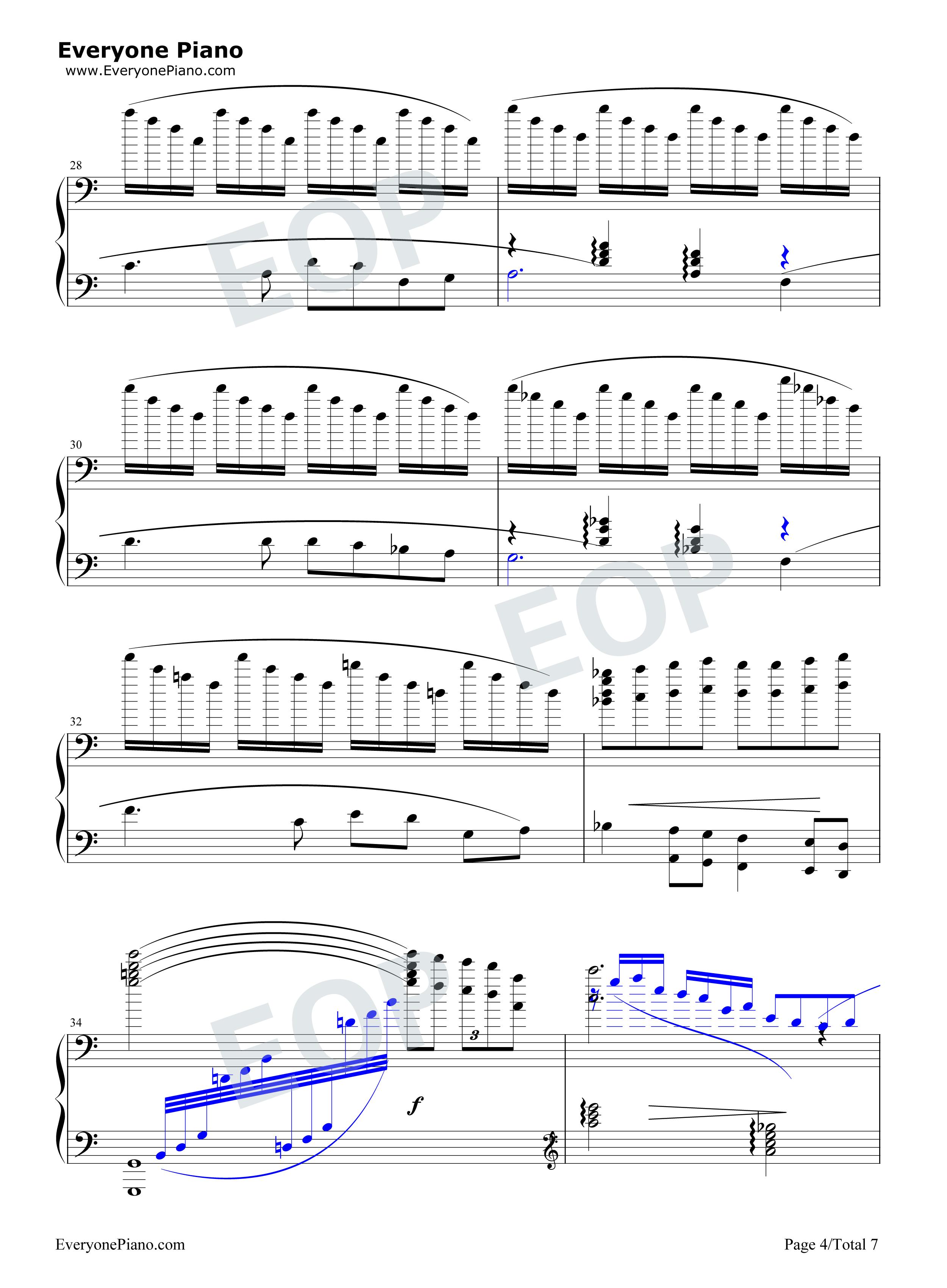 我爱你中国-电影《海外赤子》插曲五线谱预览4-钢琴谱