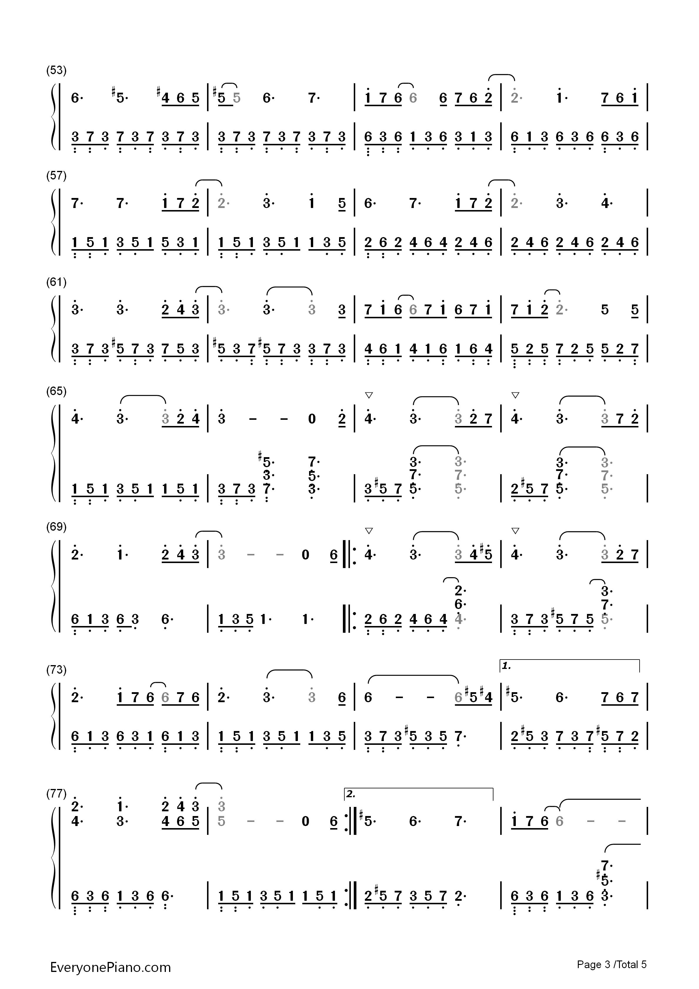 felitsa(费丽萨)-雅尼双手简谱预览3-钢琴谱