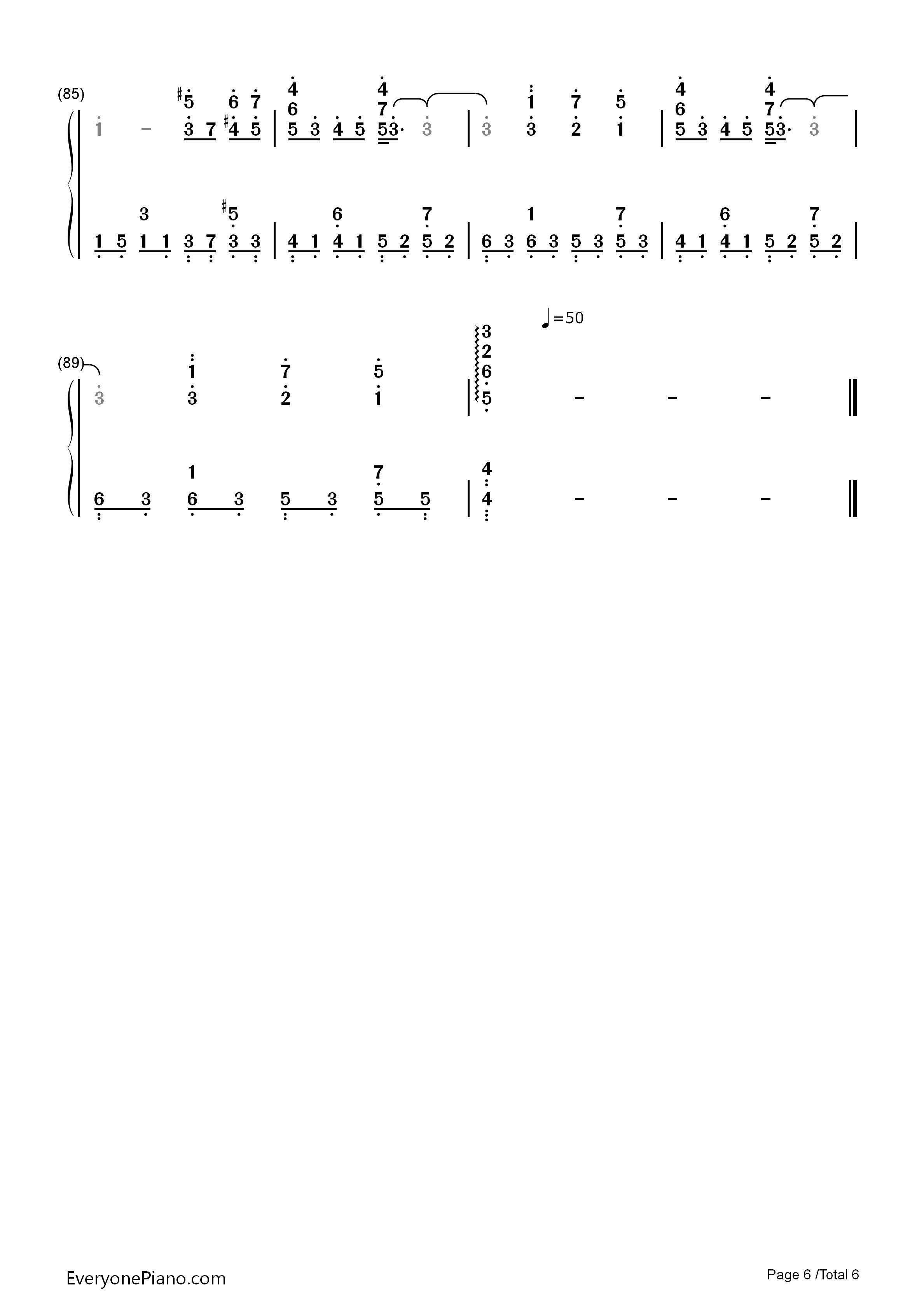 secret of my heart-《名侦探柯南》片尾曲-eop教学曲双手简谱预览6