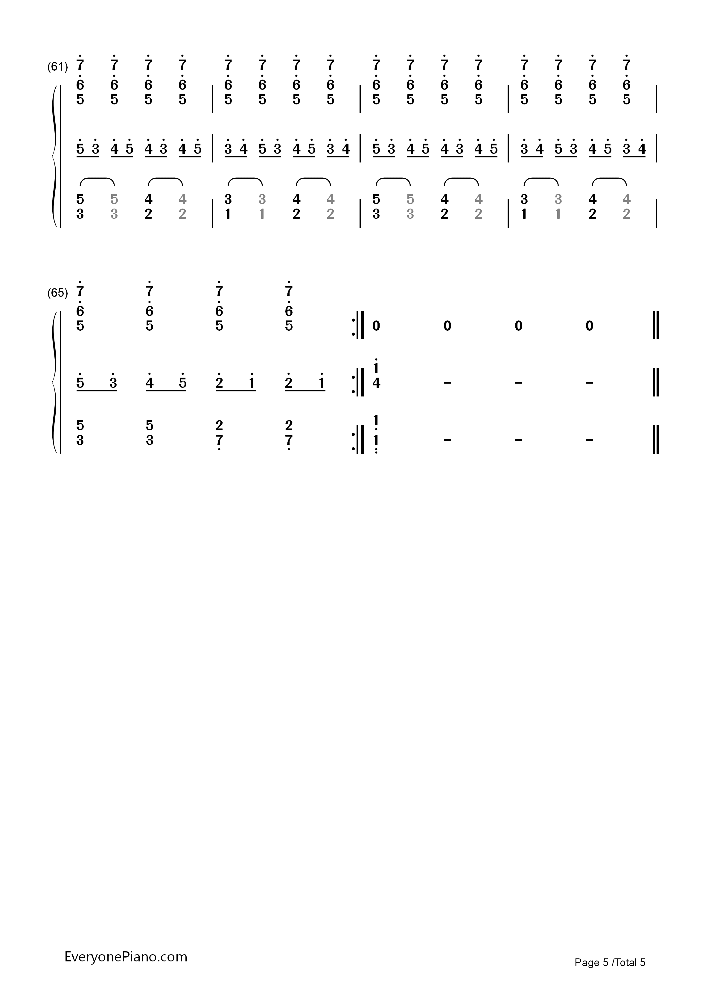 钢琴曲谱 动漫 圆周率之歌-初音未来三神曲之一