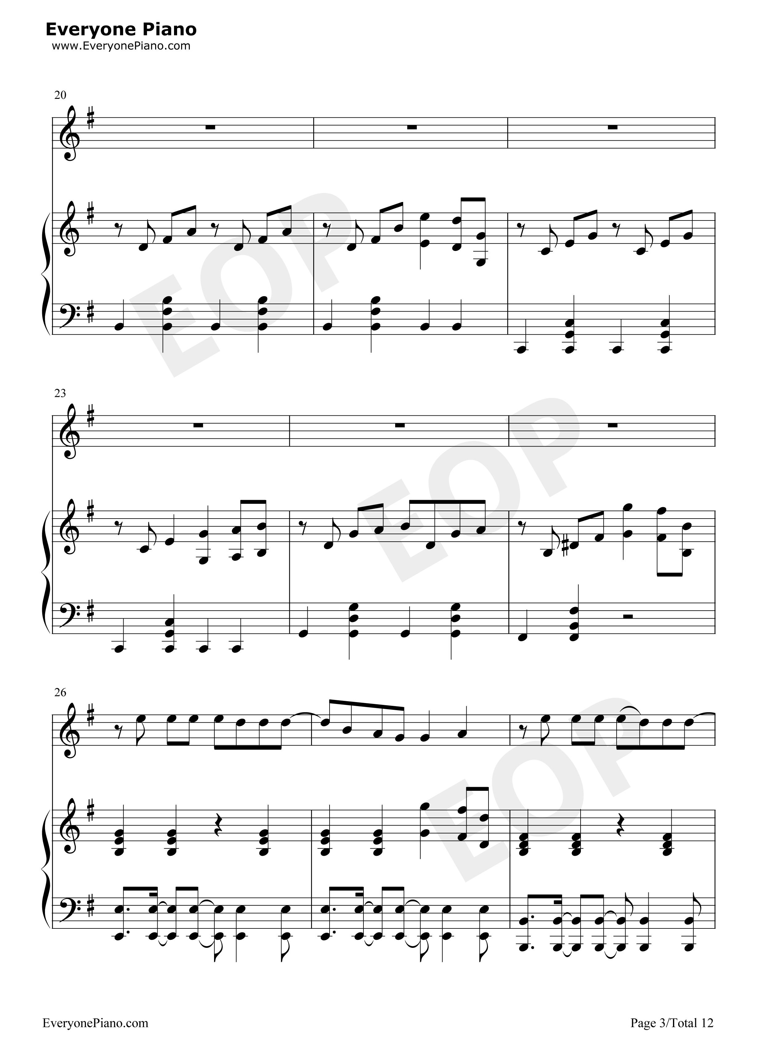 茱莉亚钢琴曲谱简谱-eop钢琴谱